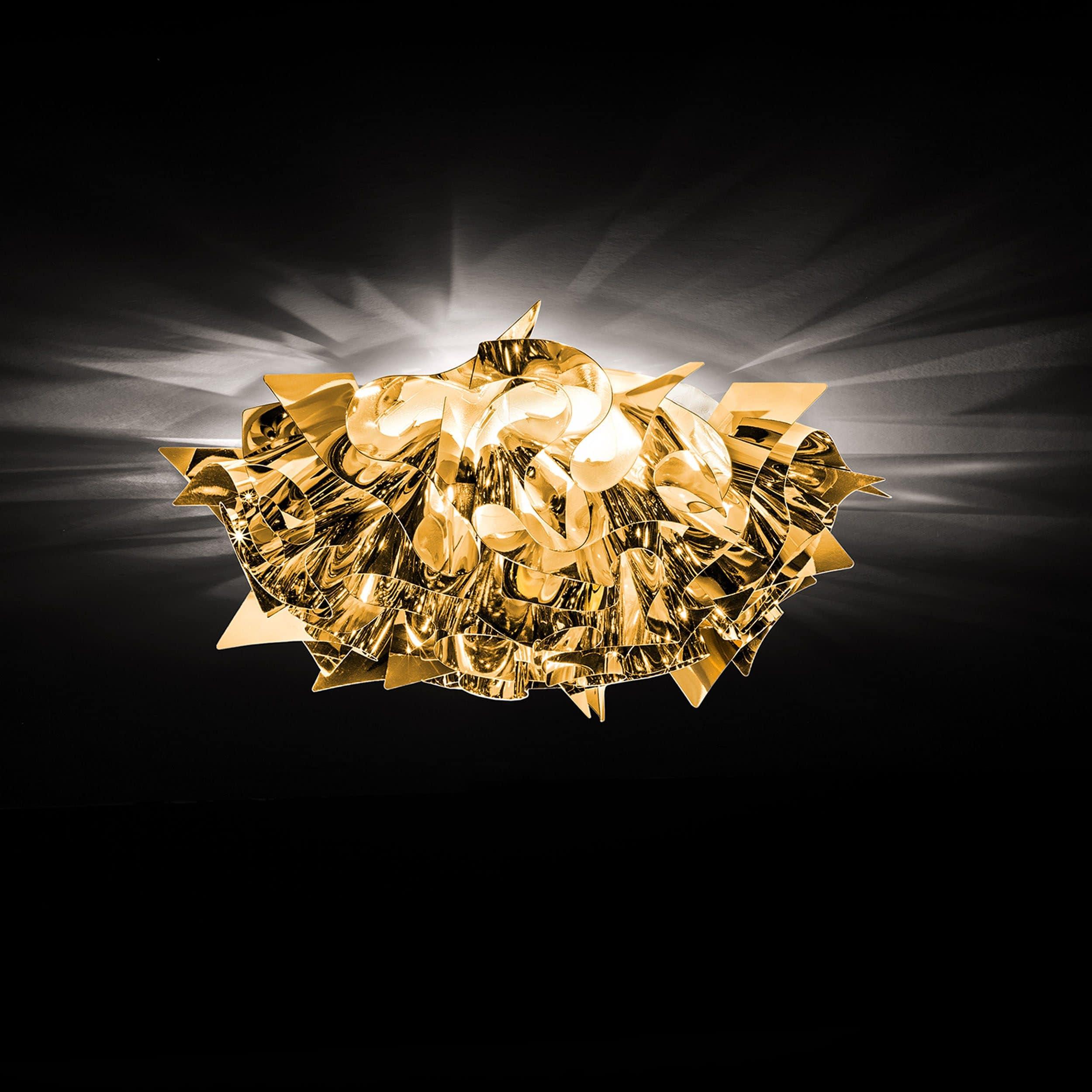 Veli Gold Wand- und Deckenleuchte