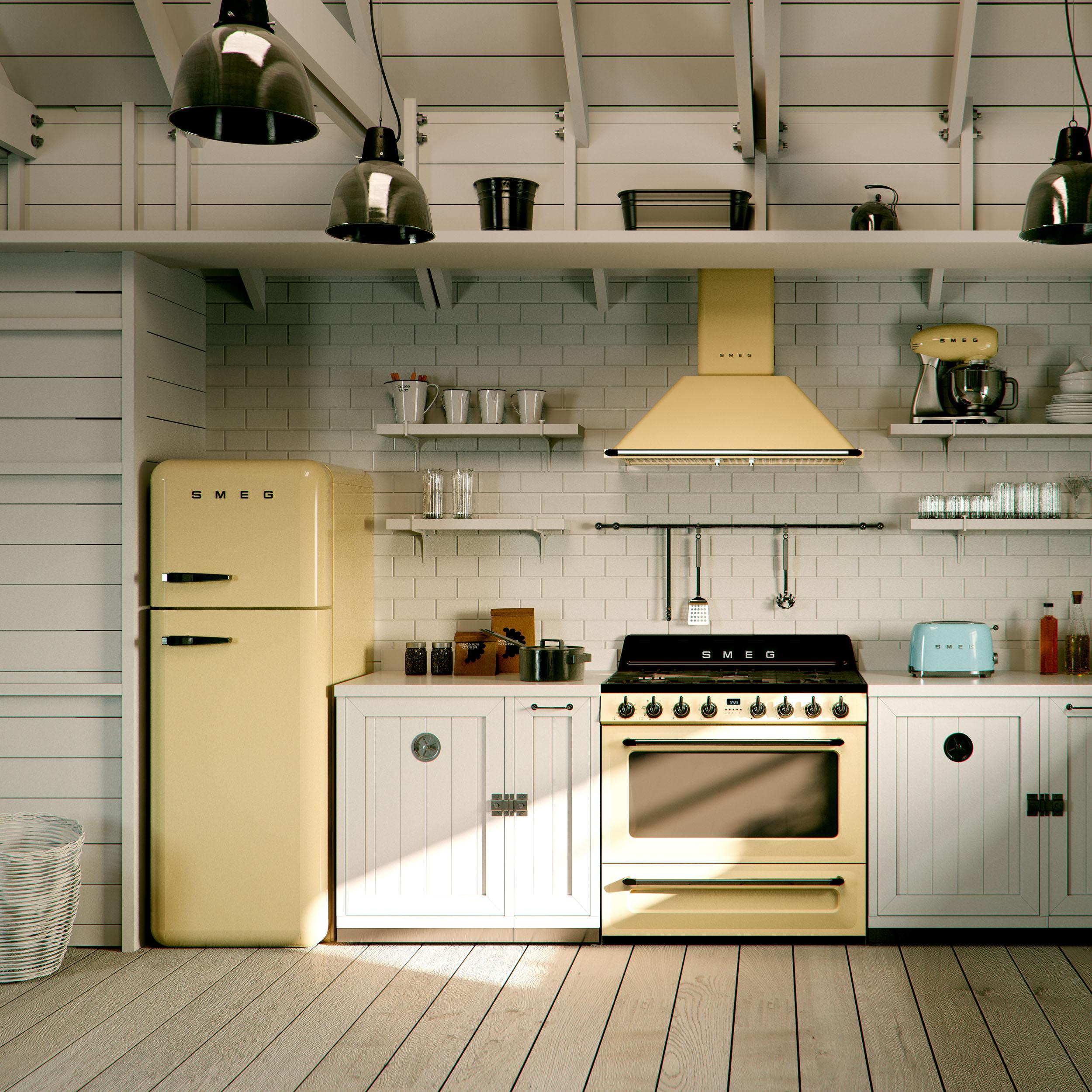 Smeg Kühlschrank mit Gefrierfach