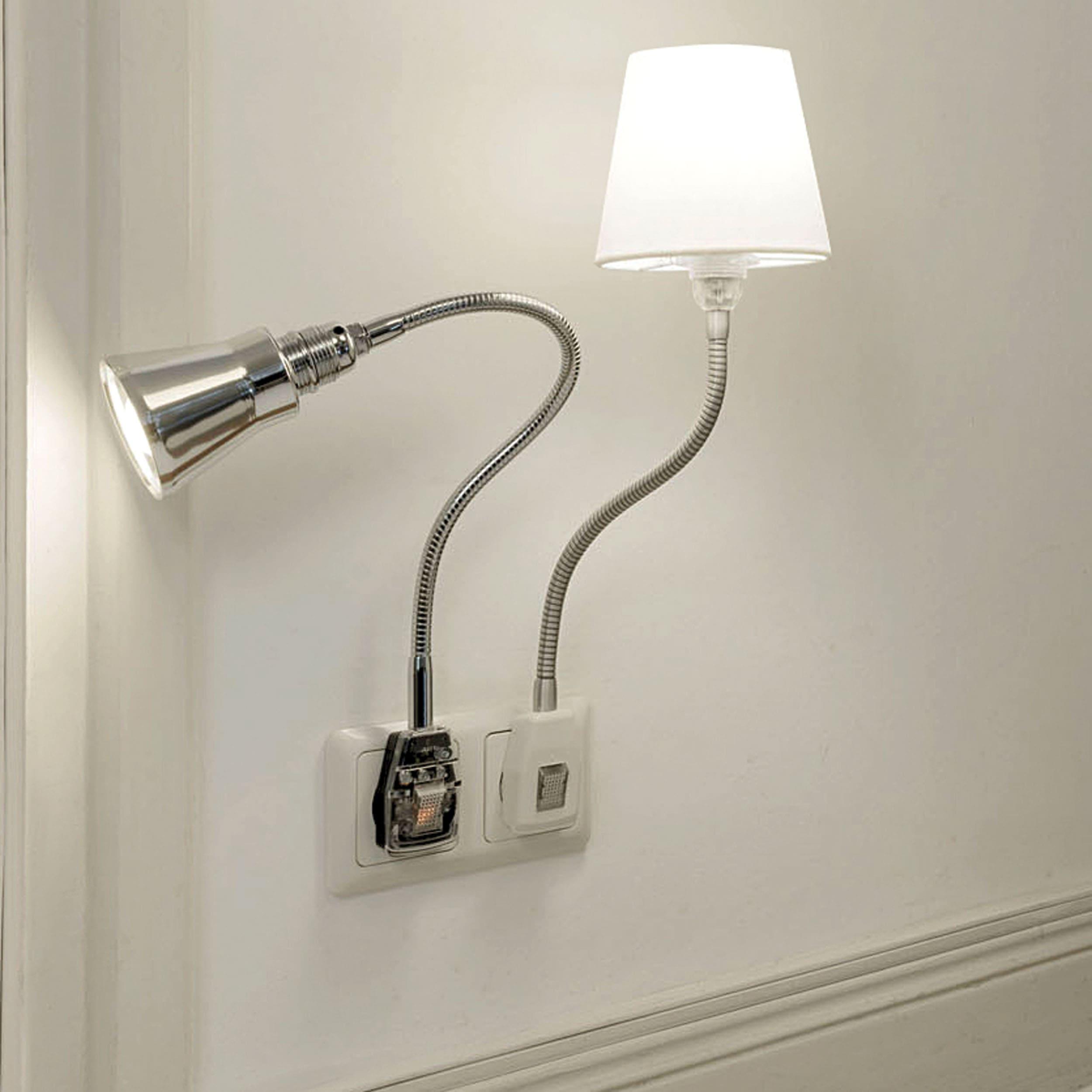 Glühwürmchen DeLight LED m. glattem Textilschirm