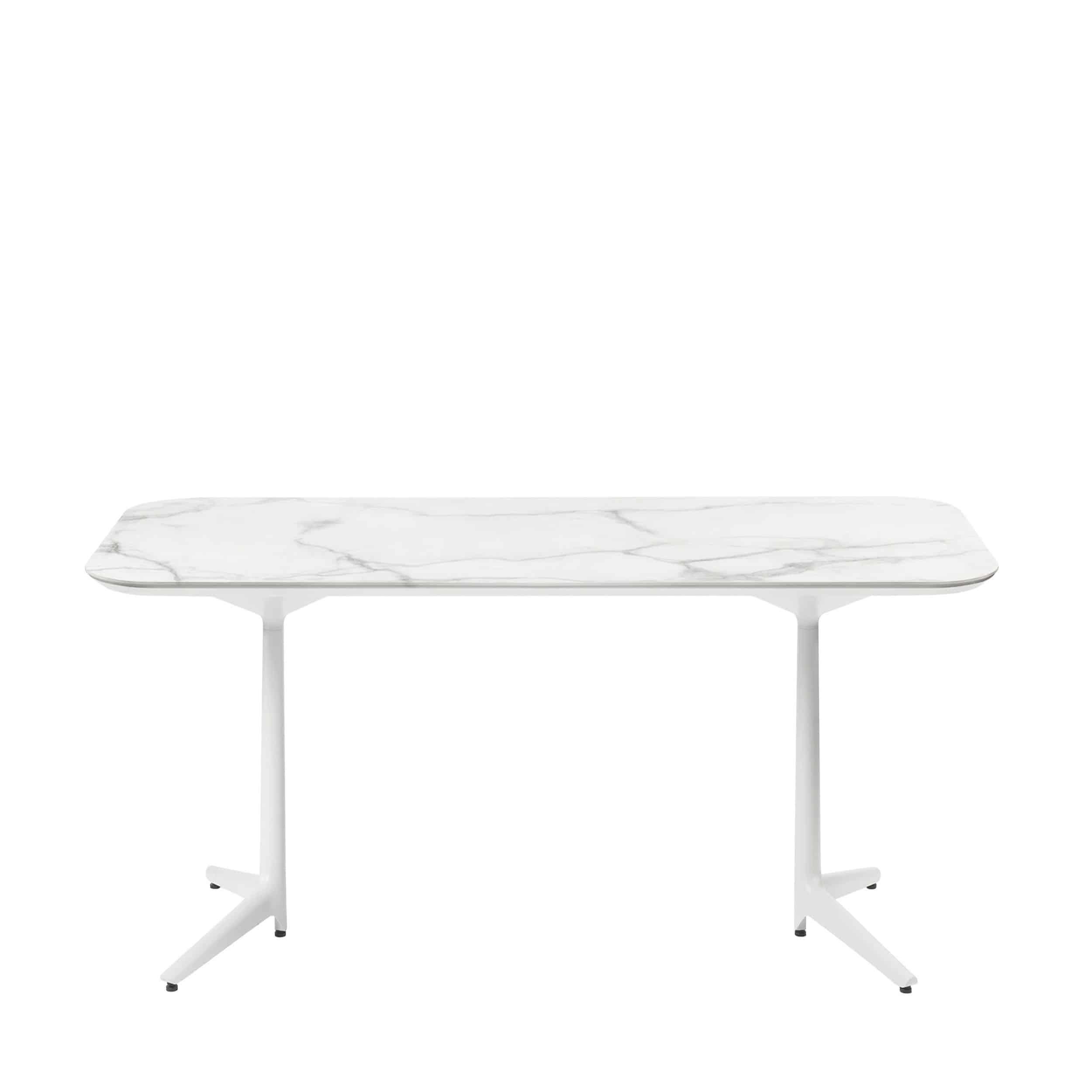 Multiplo Keramik Tisch rechteckig mit Kreuzfuß