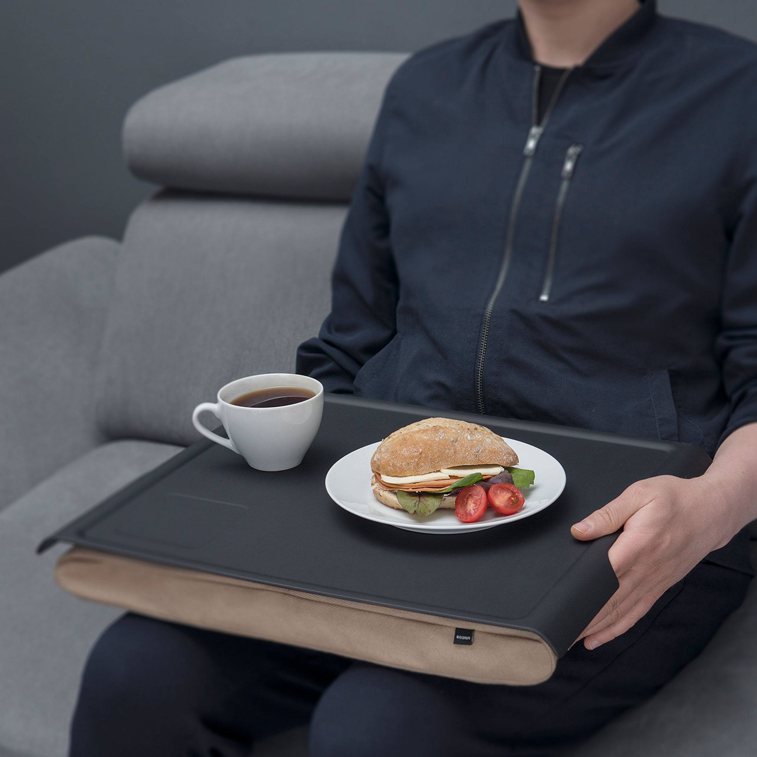 Laptray Kissen mit Tablett