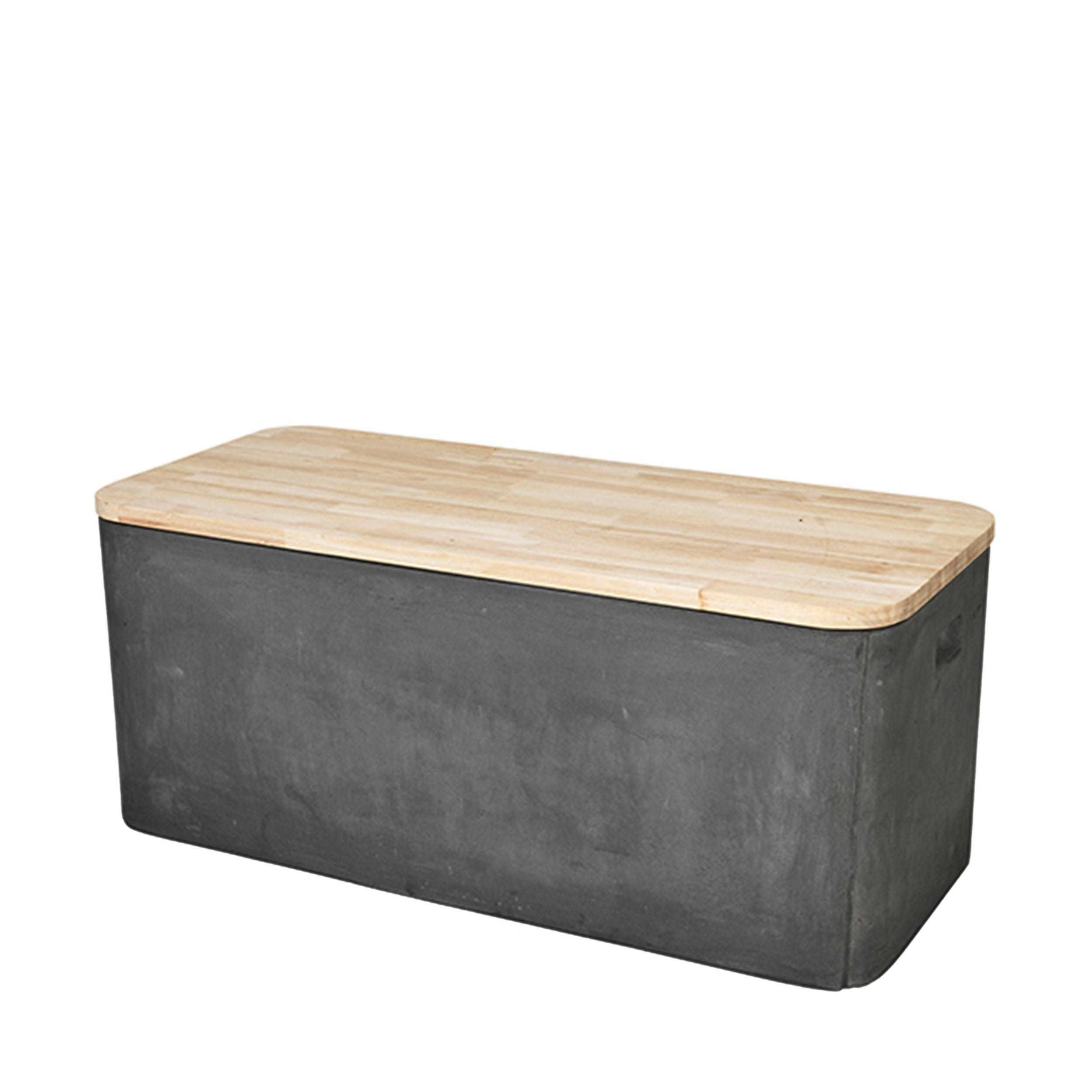 Fiber Bank und Truhe mit Holzdeckel