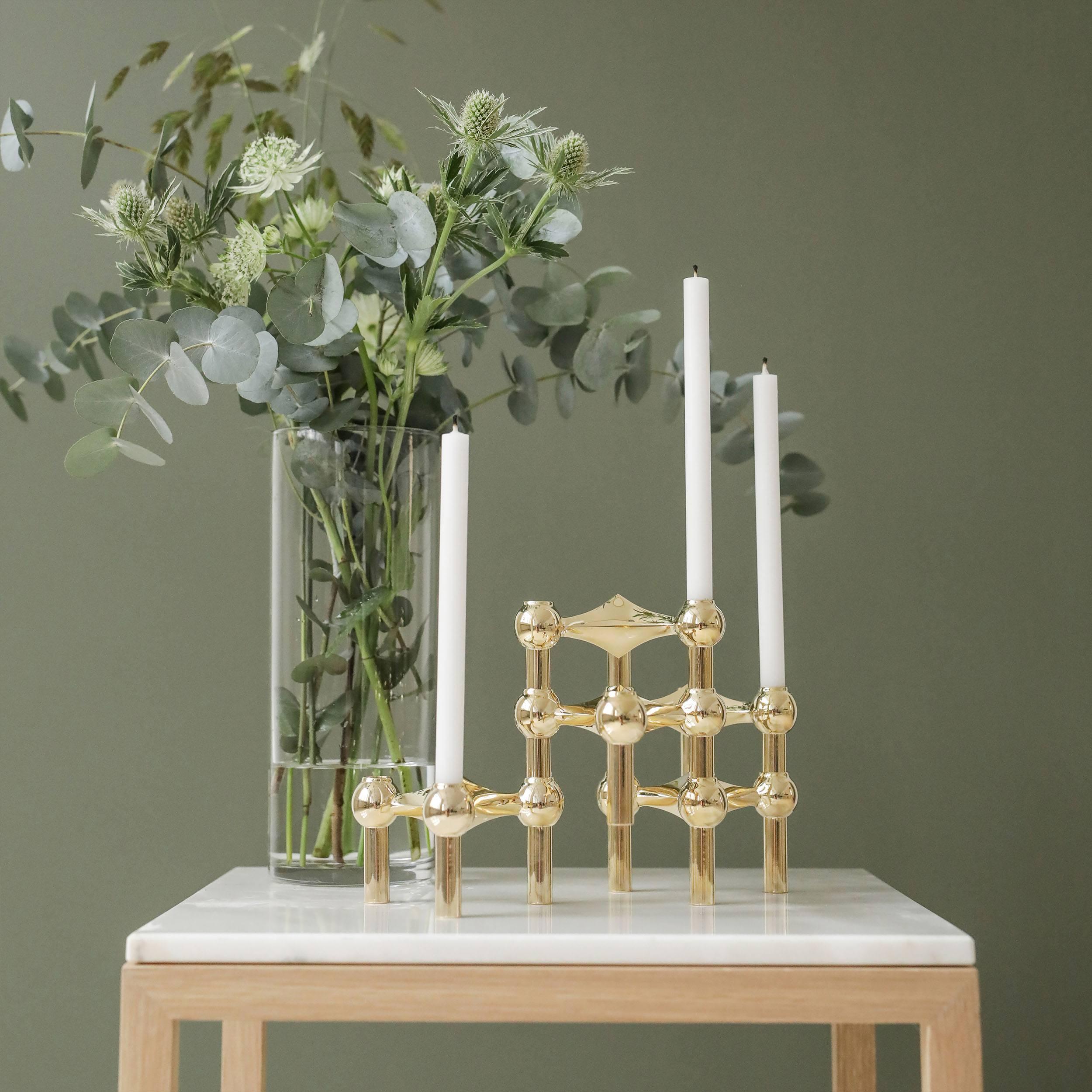Stoff Kerzen im 12er-Set