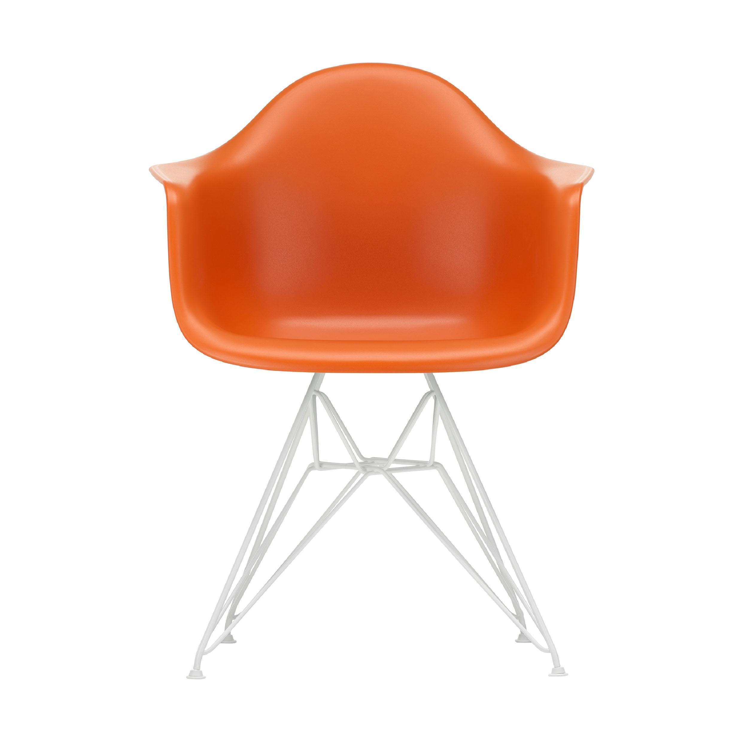 Eames Plastic Armchair Stuhl DAR Gestell weiß mit Filzgleitern