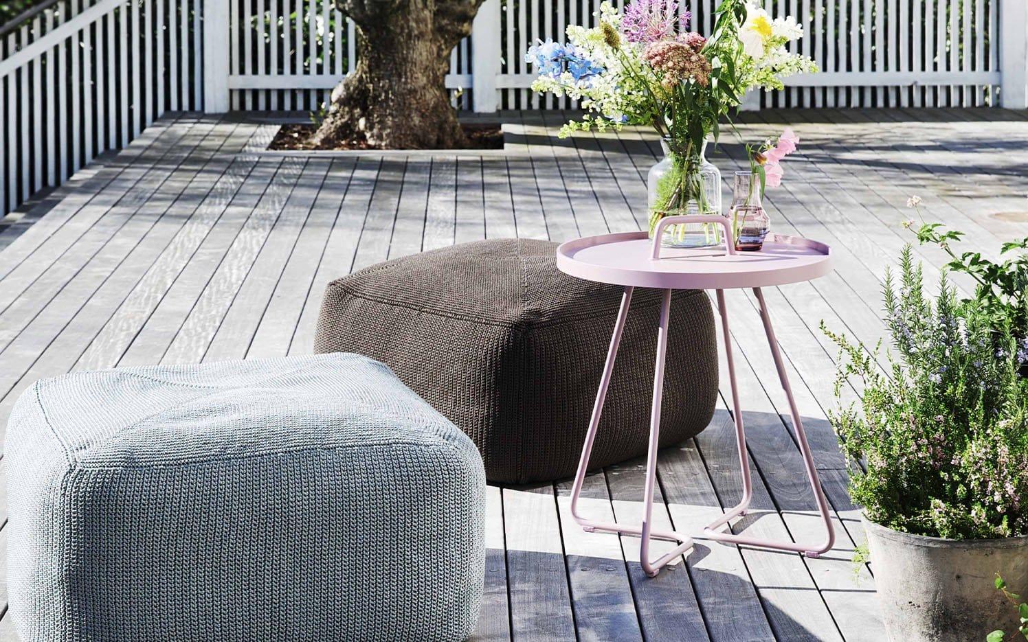 Beistelltische werden für Garten, Terrasse & Balkon mobil