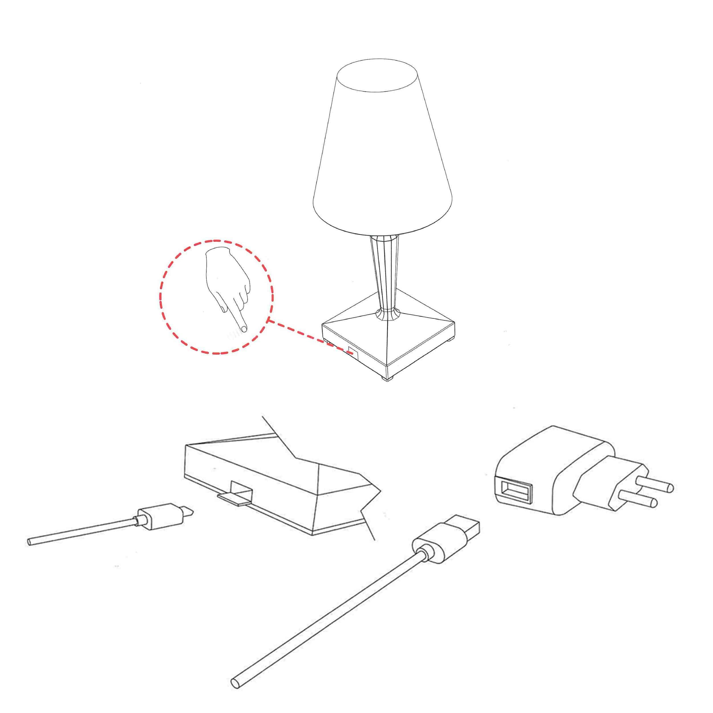 Big Battery Mobile LED Tischleuchte