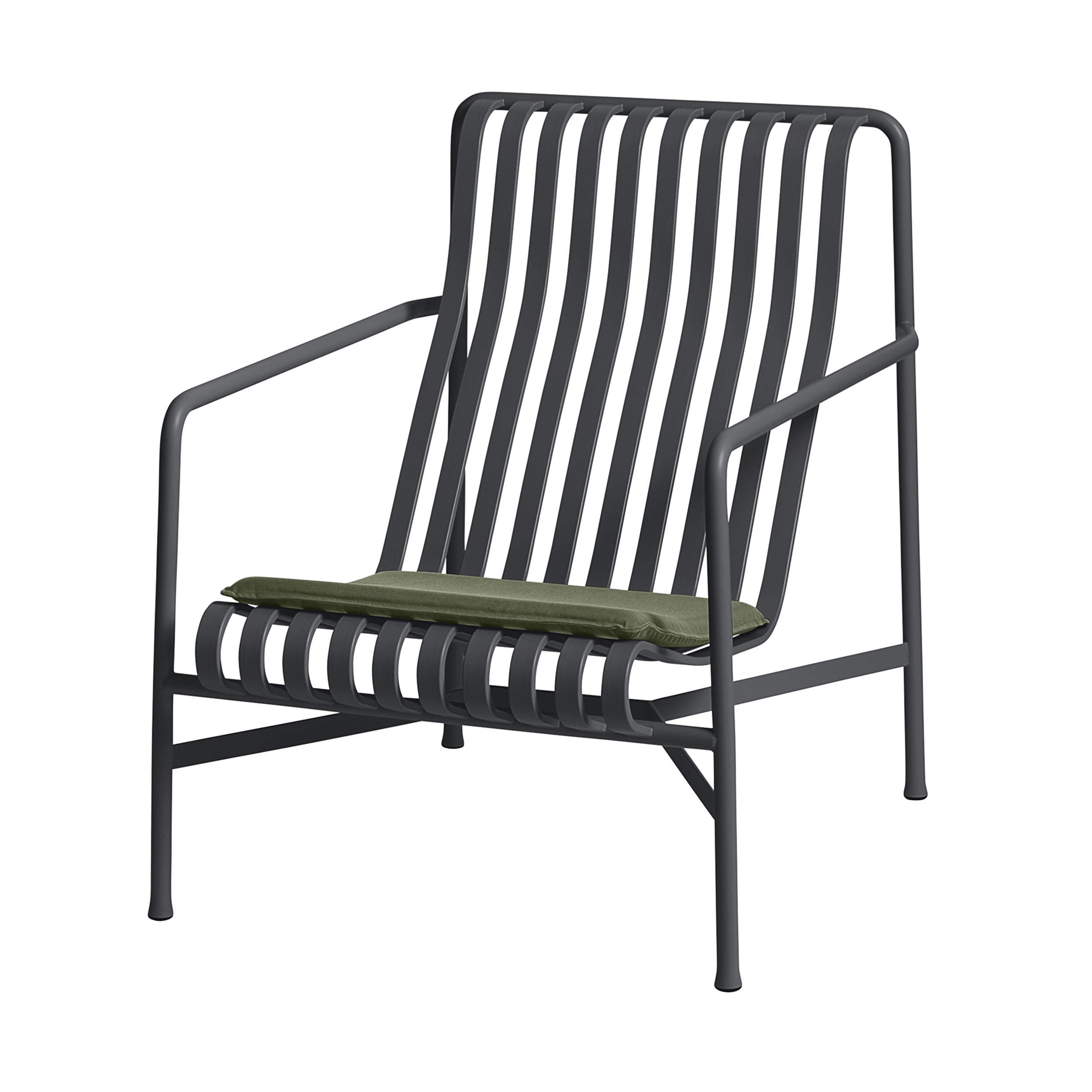 Palissade Sitzkissen für Lounge Sessel niedrig und hoch