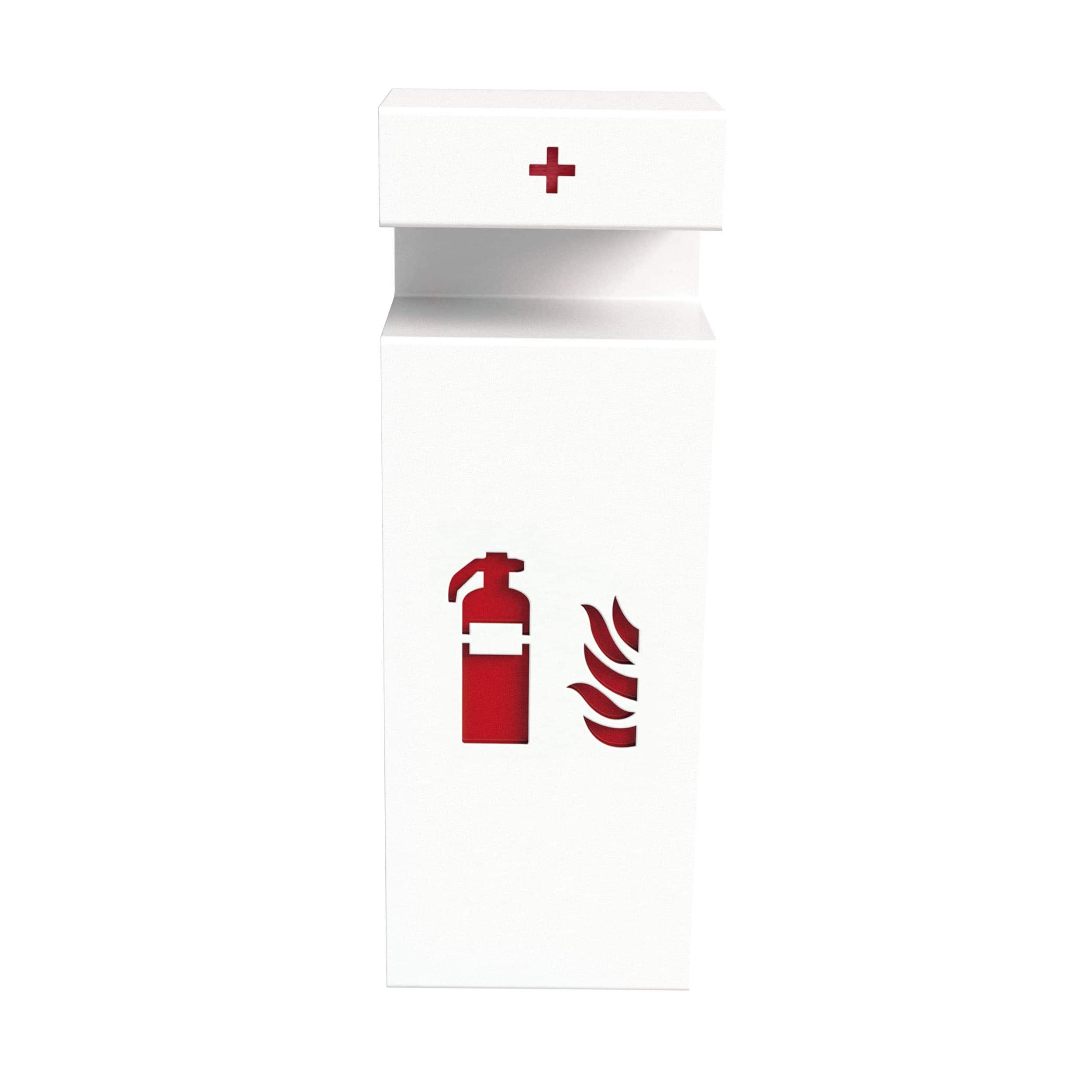 Fire Wall Feuerlöscherhalter mit Erste Hilfe Box