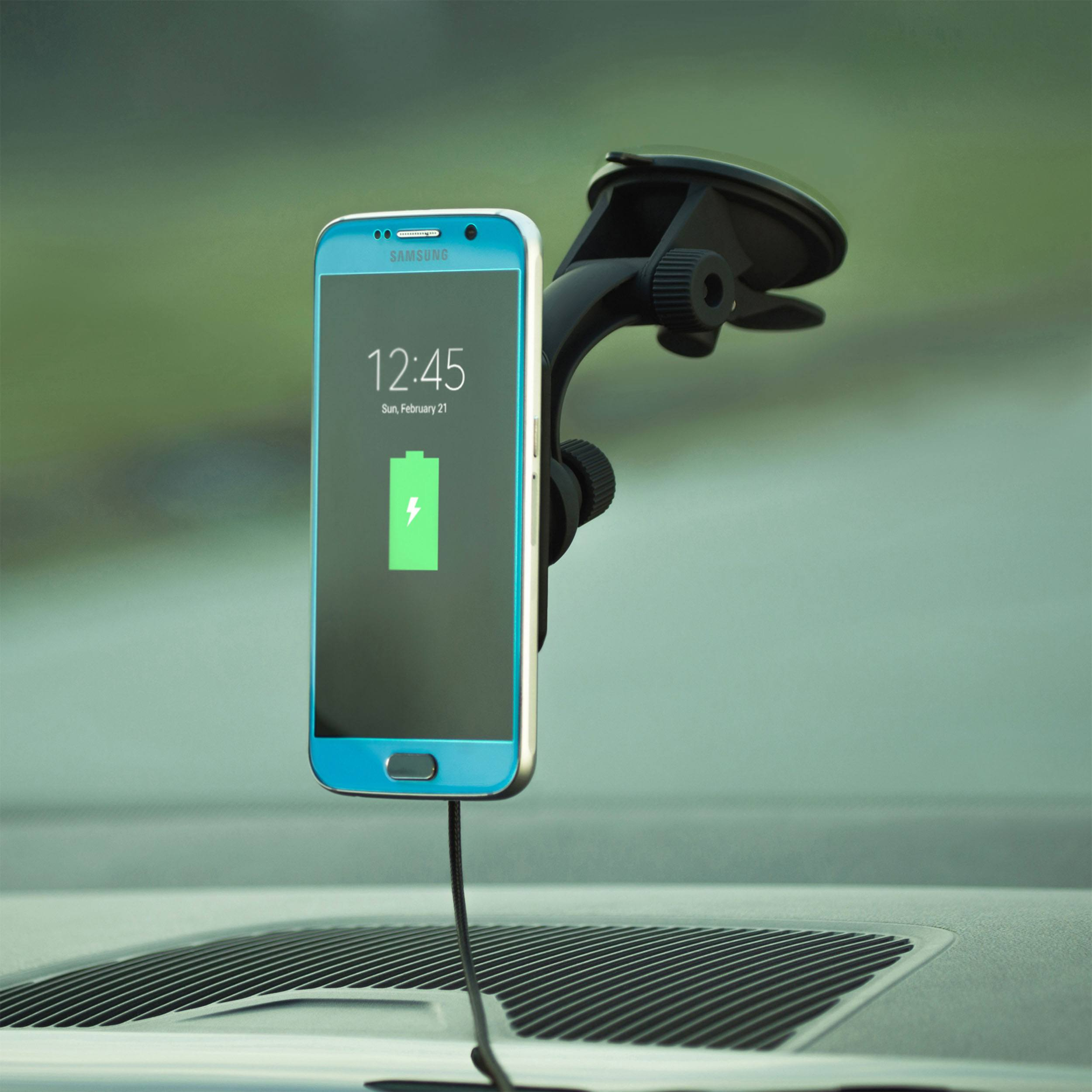 Magnetic Qi Charger Auto Ladestation mit Saugnapf