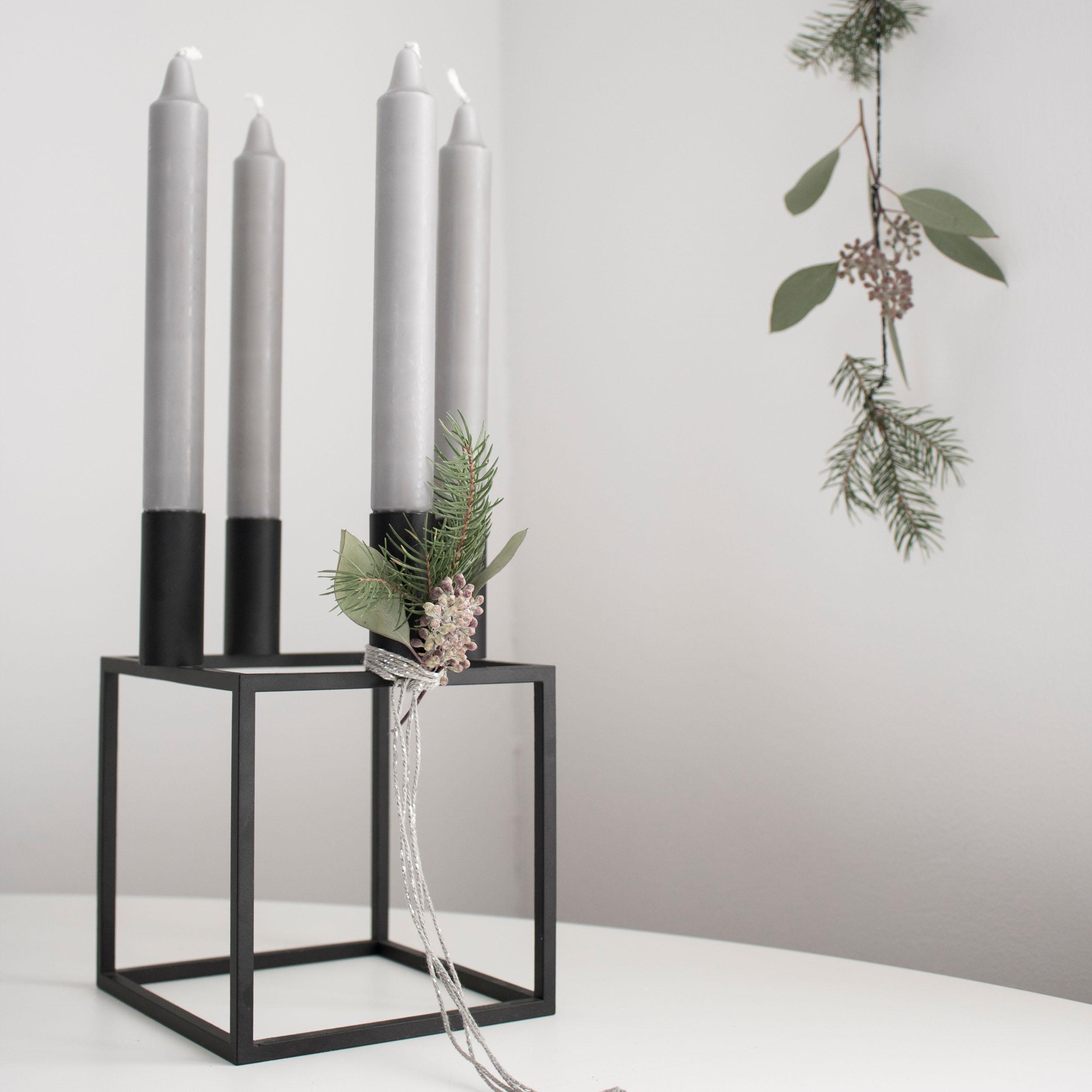 Kubus 4 Kerzenständer
