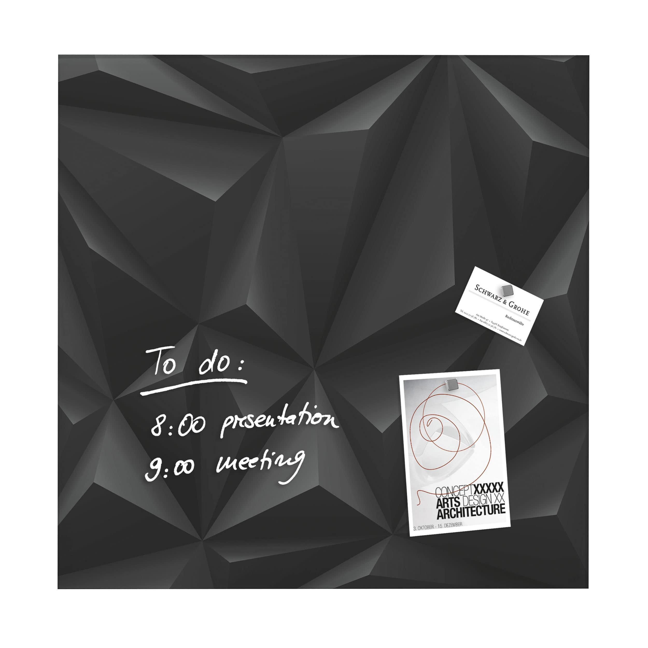 artverum® Glas-Magnetboard Black Diamond