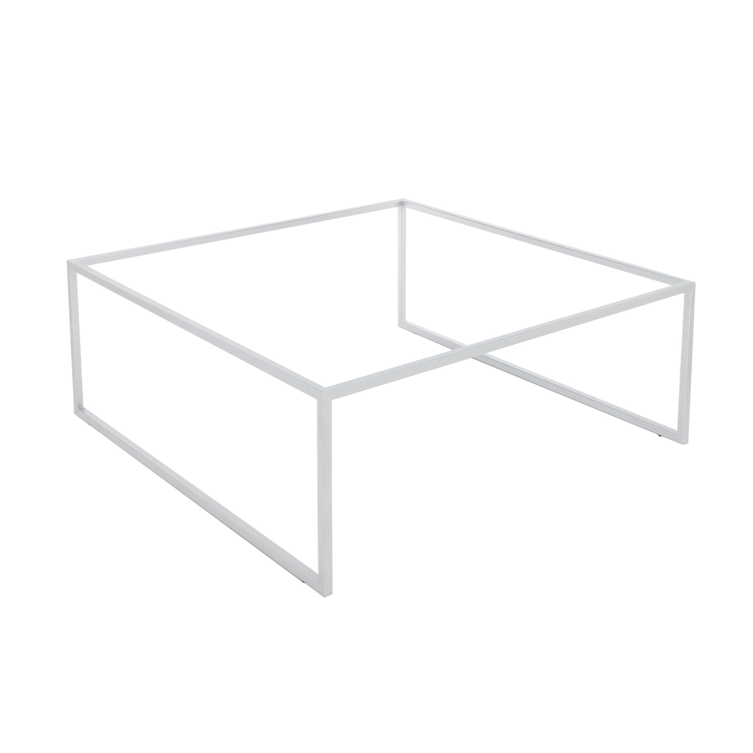 Pizzo 80 Beistelltisch in Edelstahl mit Tablett