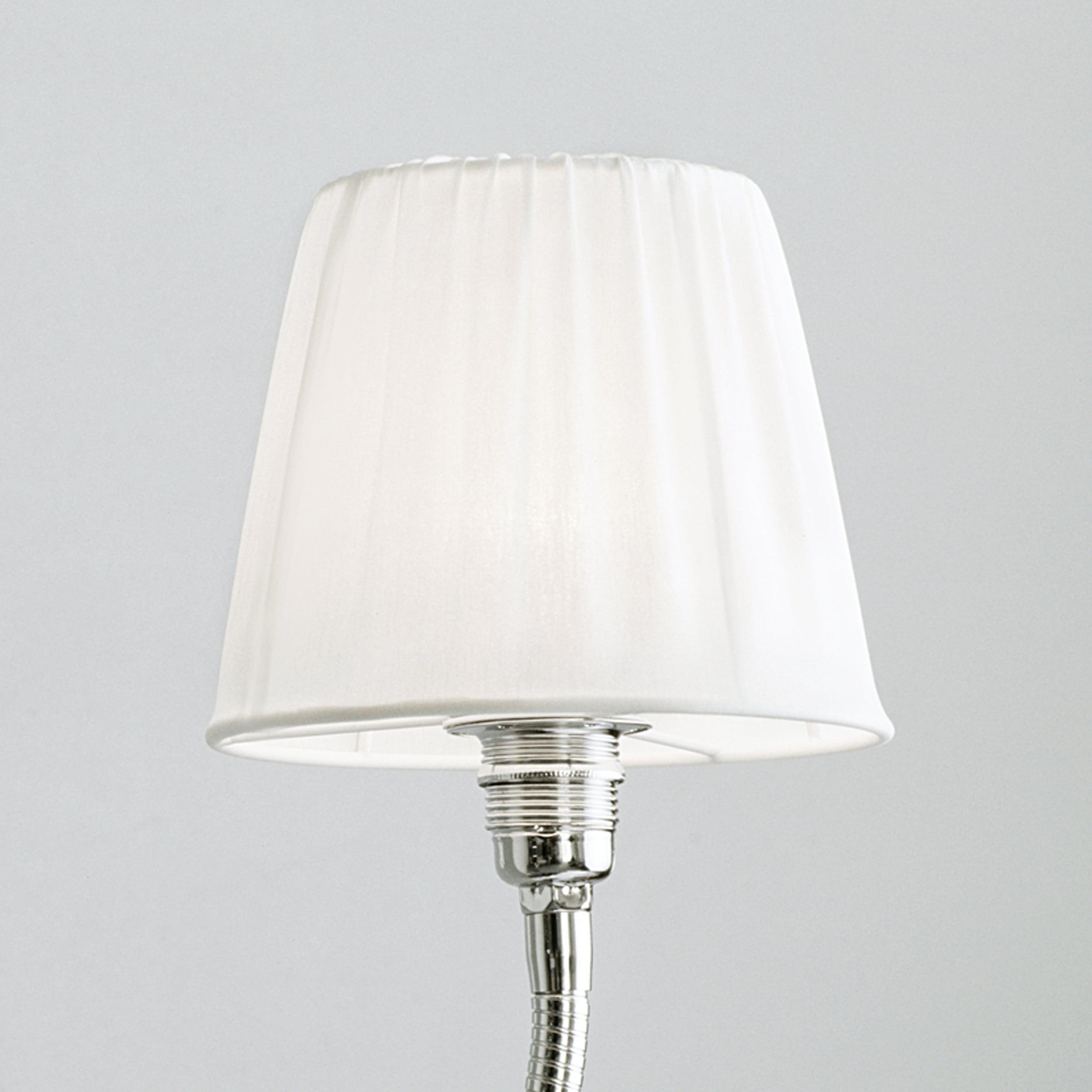 Glühwürmchen NeoClassic mit glattem Textilschirm