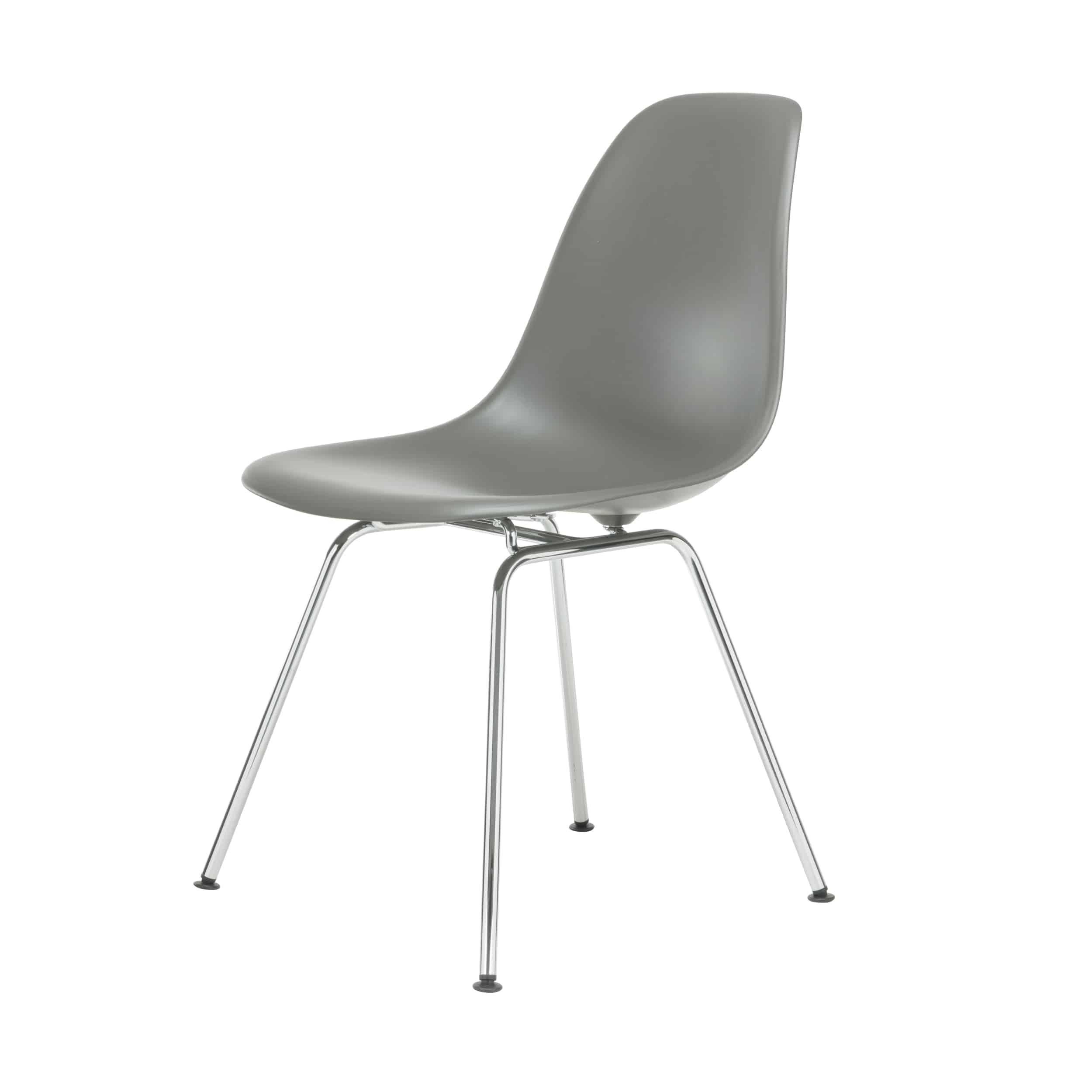 Eames Plastic Side Chair Stuhl DSX mit Kunststoffgleitern