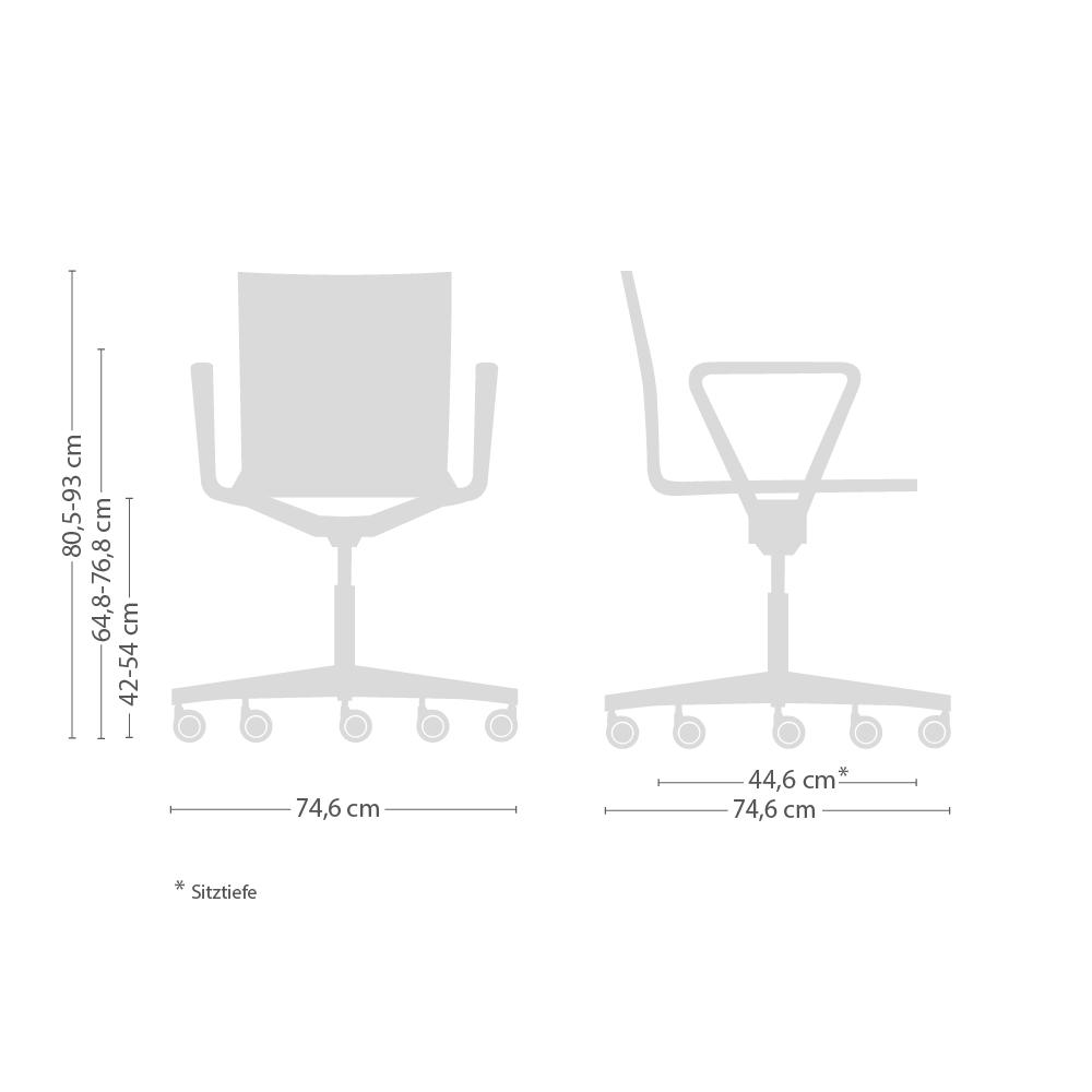 .04 Atelierstuhl mit Armlehnen