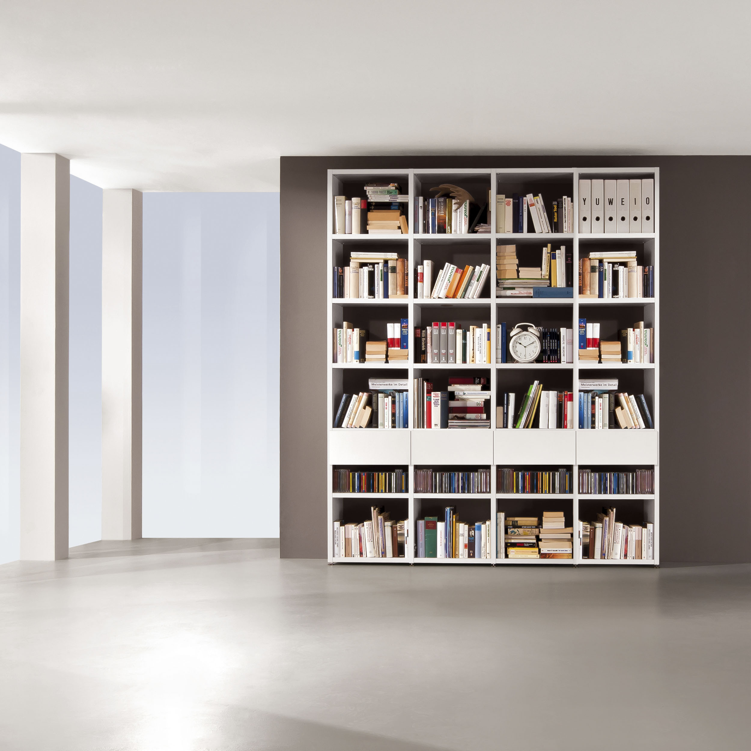 Bücherwand 2.1 Tür inkl. Rückwand