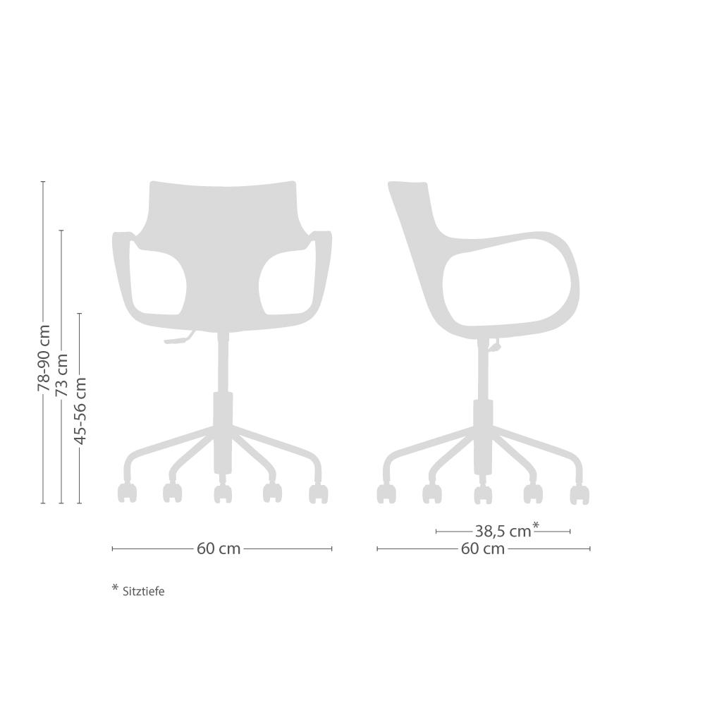 Jim Drehstuhl ohne Sitzkissen