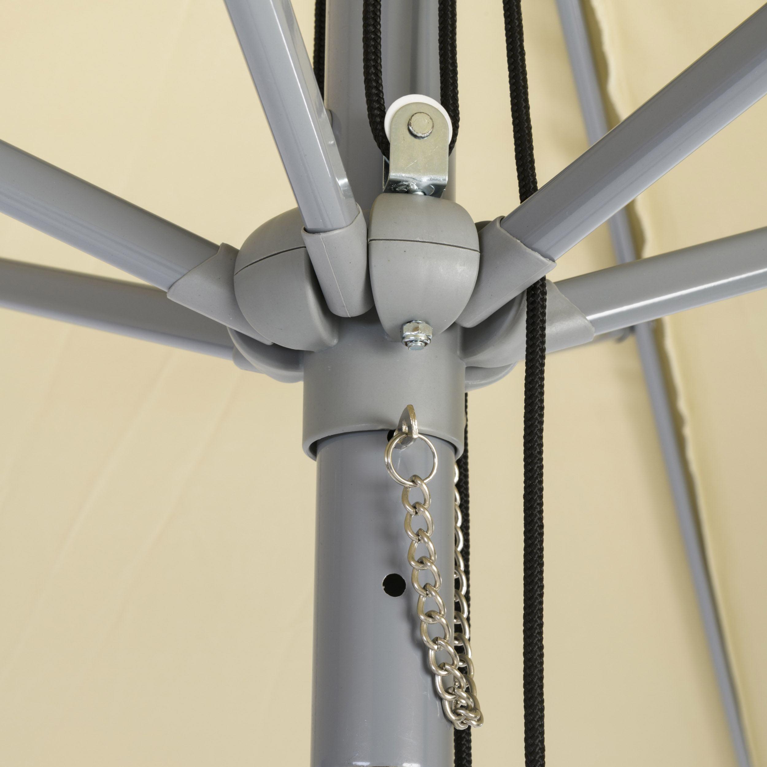 Alu-Sonnenschirm rund mit Seilzug ohne Schirmständer