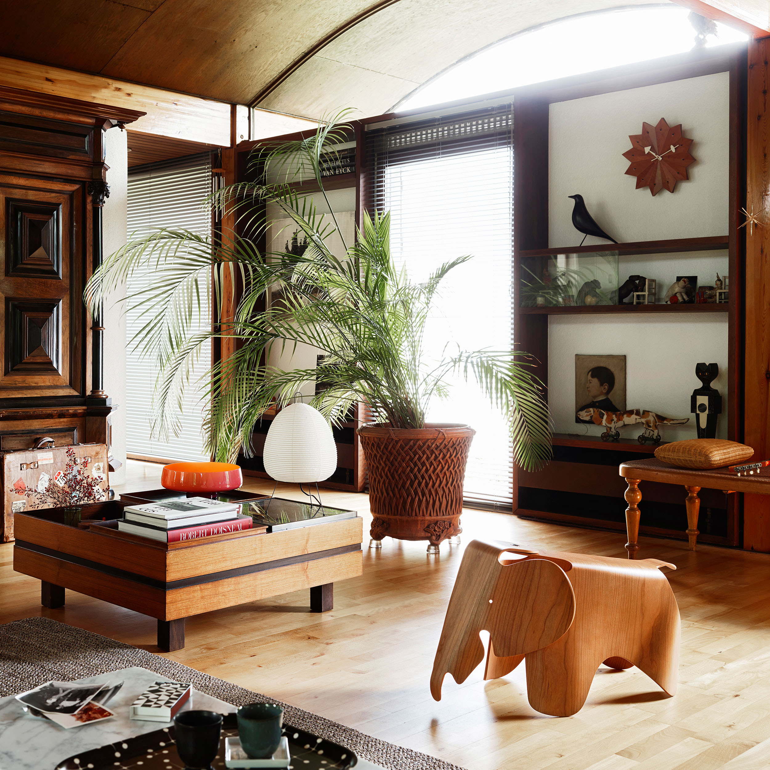 Eames Elephant Plywood Hocker