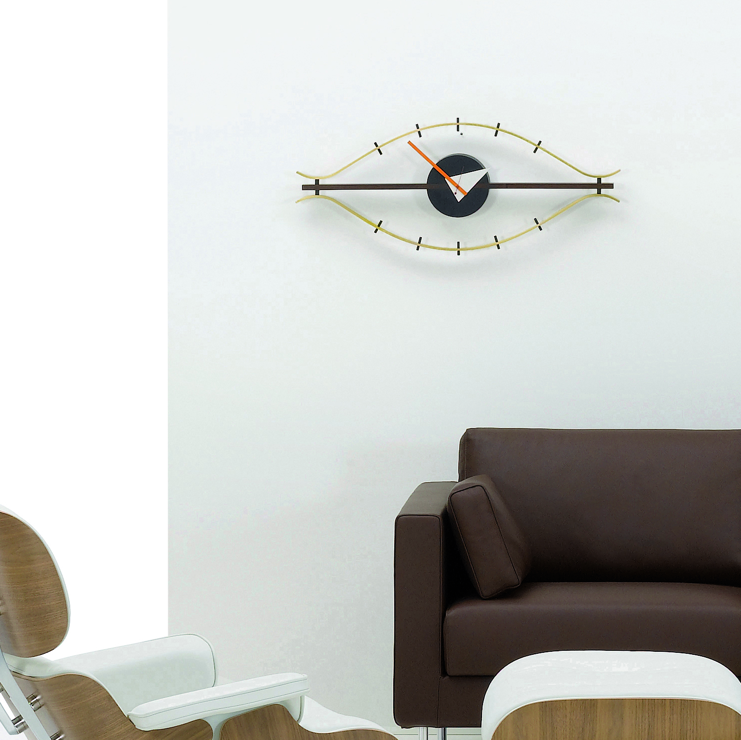 Eye Clock Wanduhr