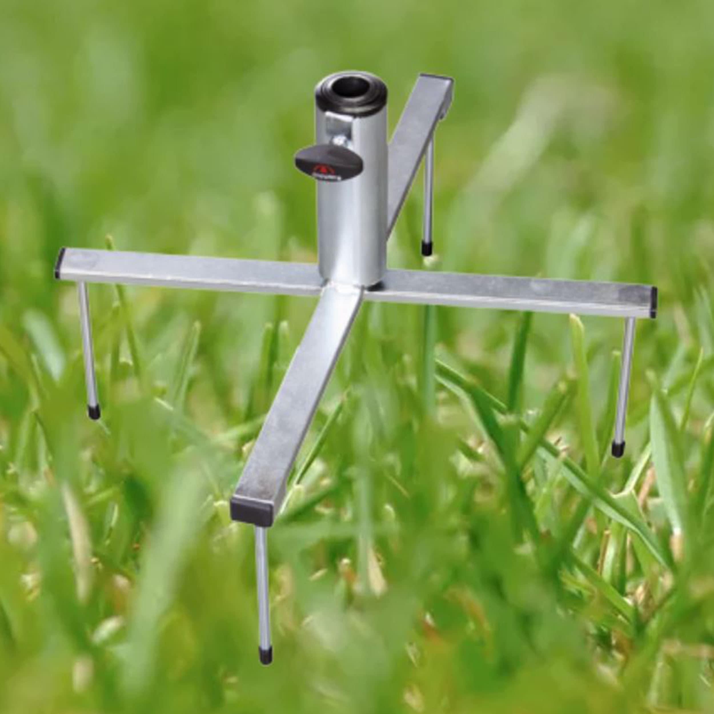Klappbarer Rasenspieß Schirmständer