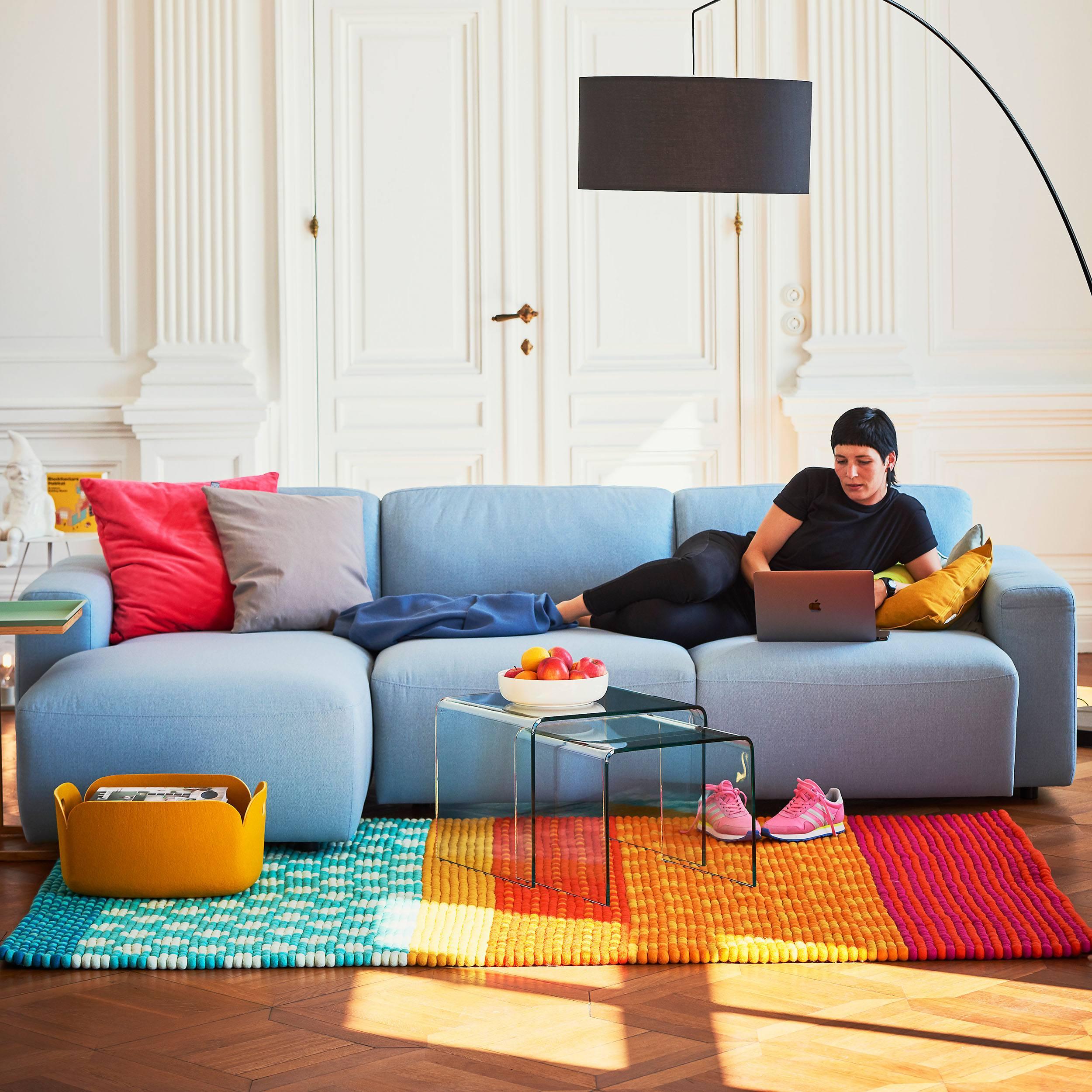 Clifden 3-Sitzer Sofa mit Longchair links
