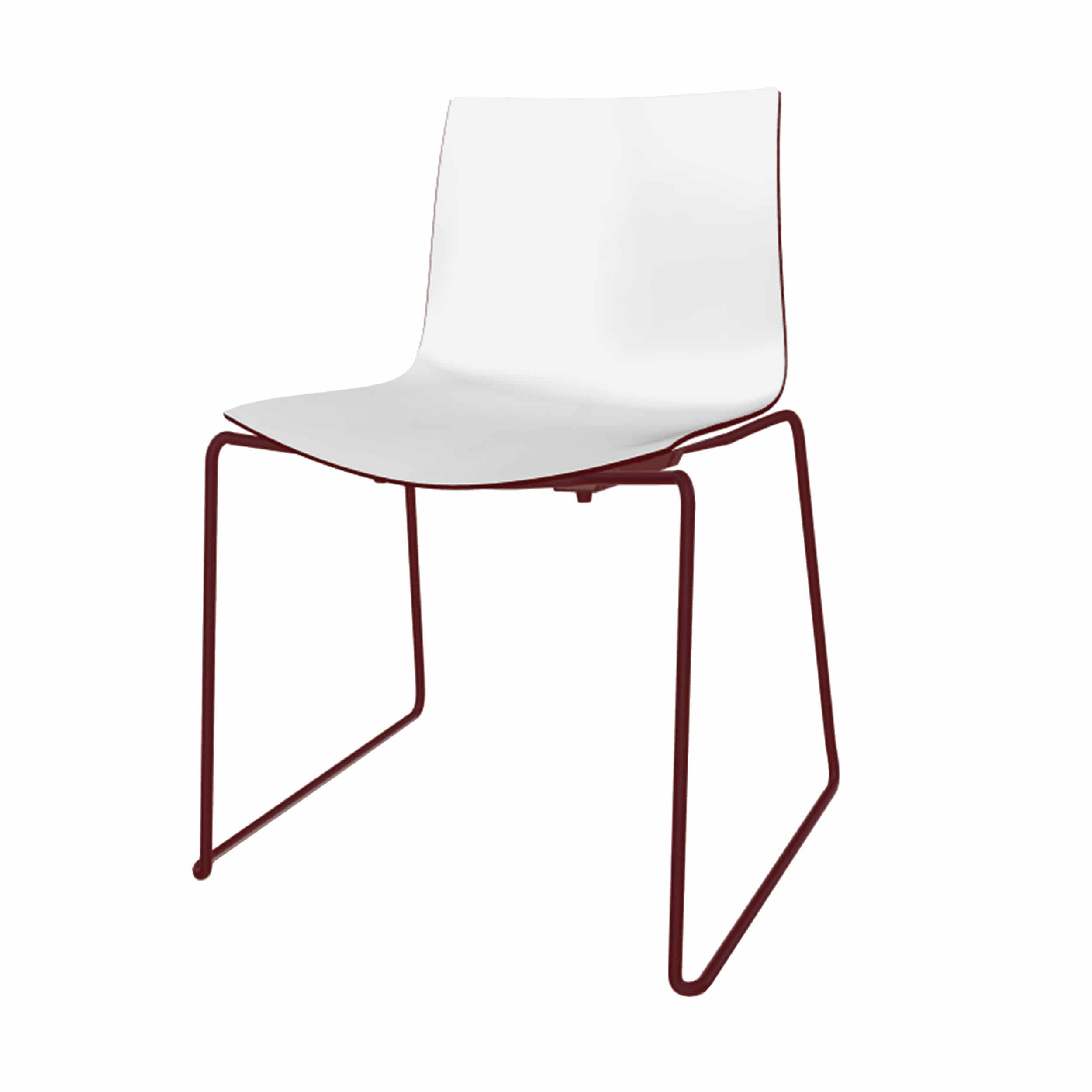 Catifa 46 Stuhl zweifarbig mit verchromten Kufen