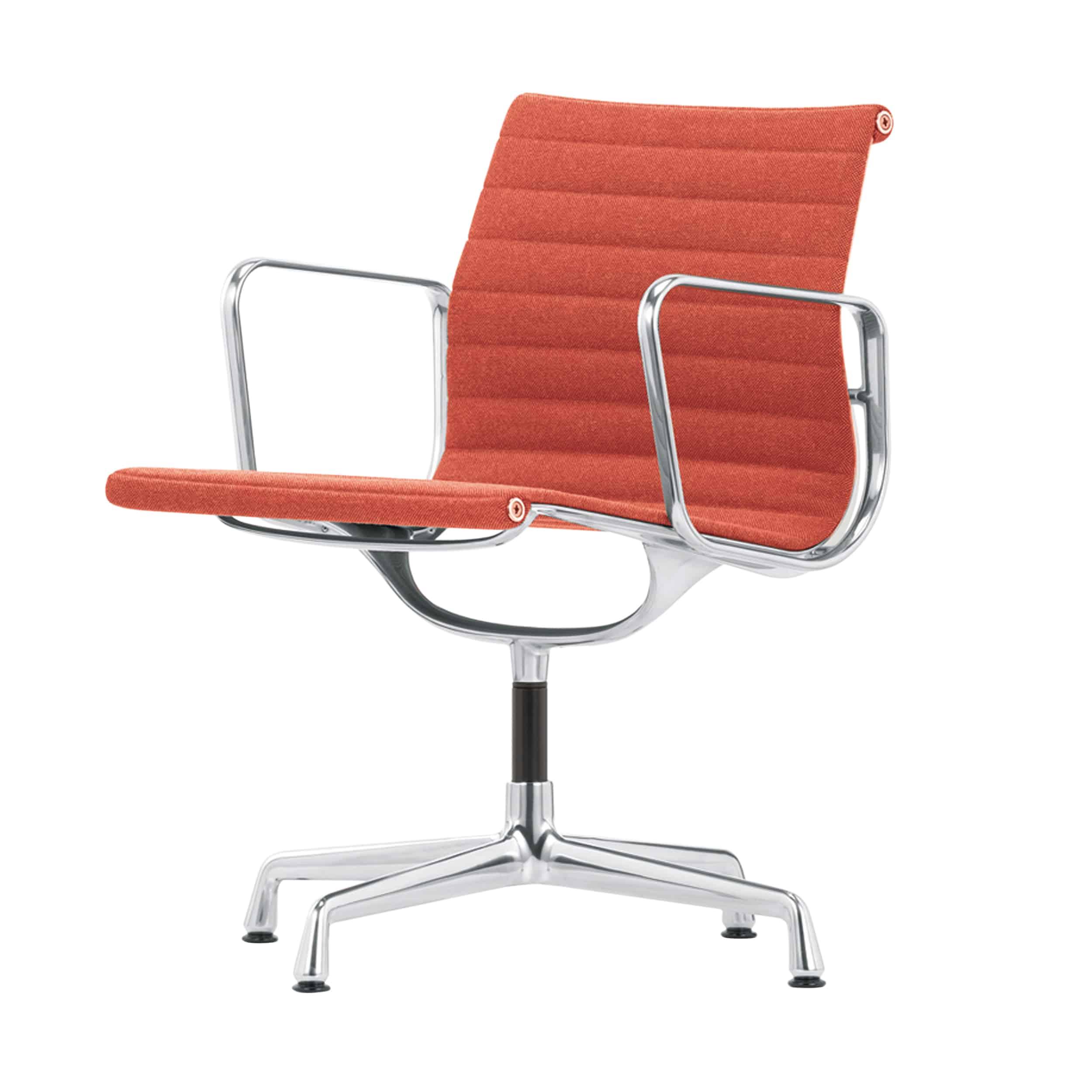 Aluminium Group EA 108 Stoff Stuhl mit Kunststoffgleitern