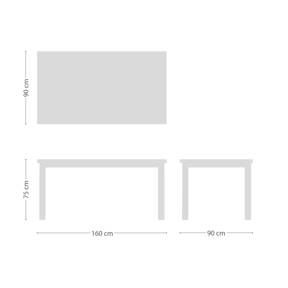 Star Tisch rechteckig