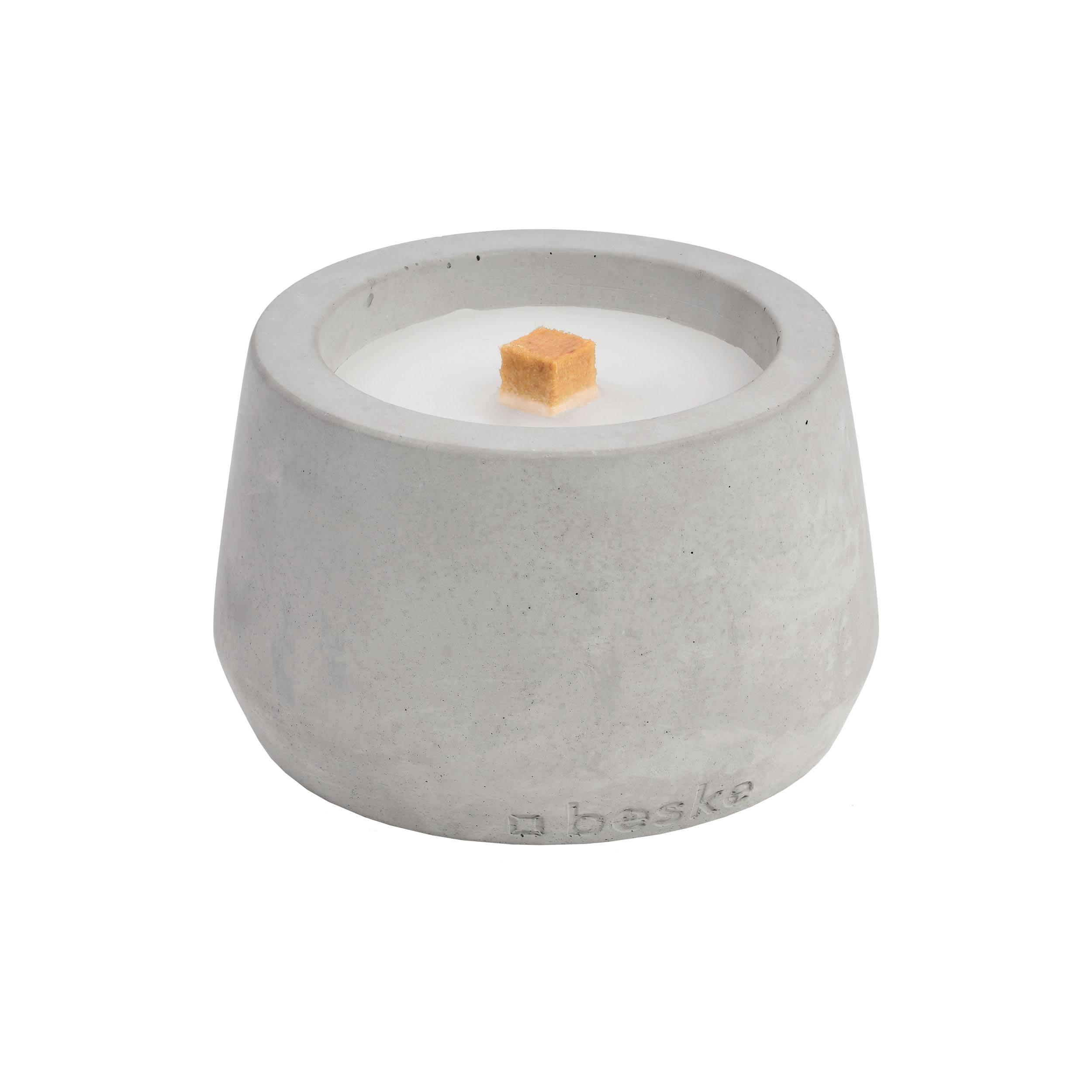 Betonfeuer bauchig Tischfeuer mit Deckel