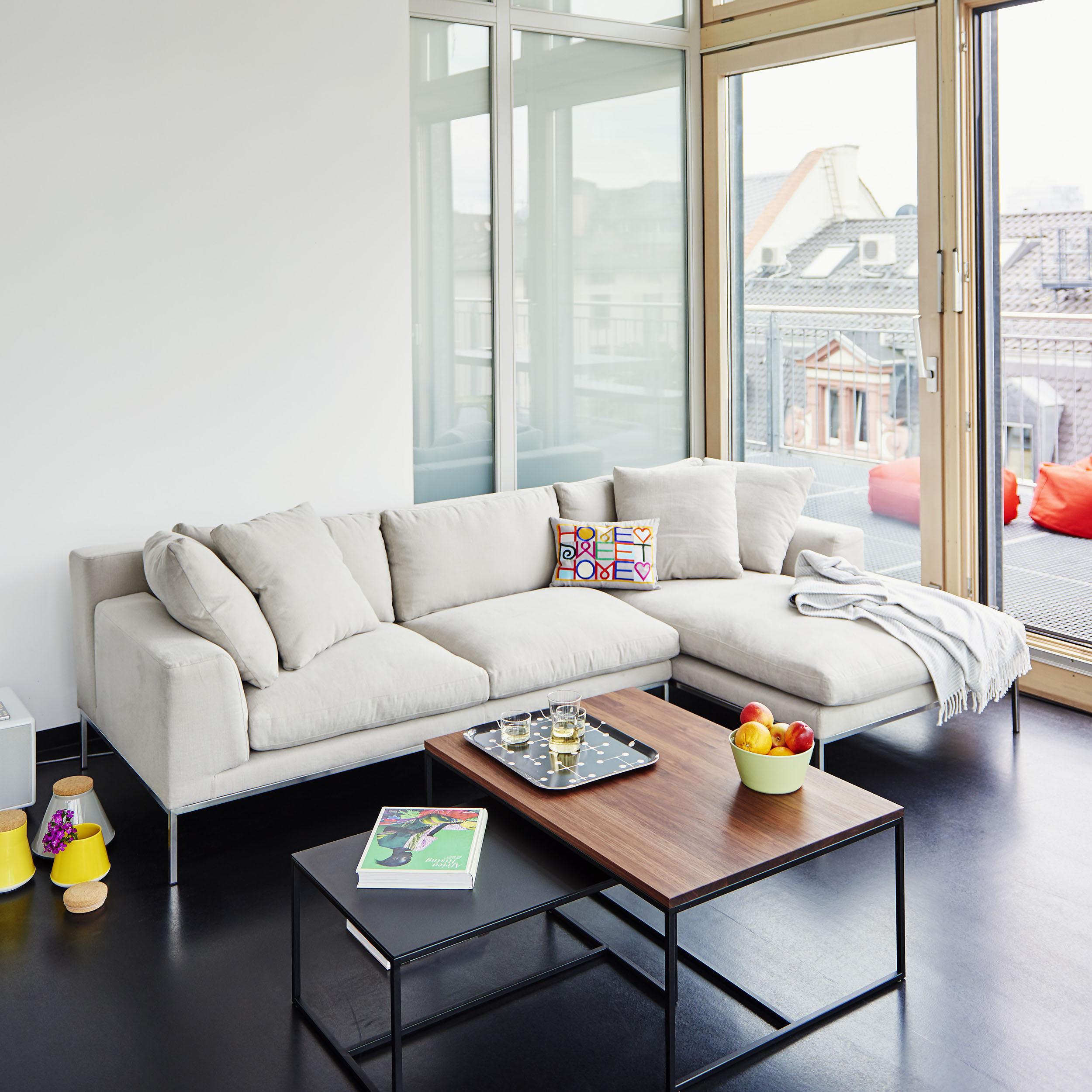 Modello 2,5-Sitzer Sofa mit Longchair rechts