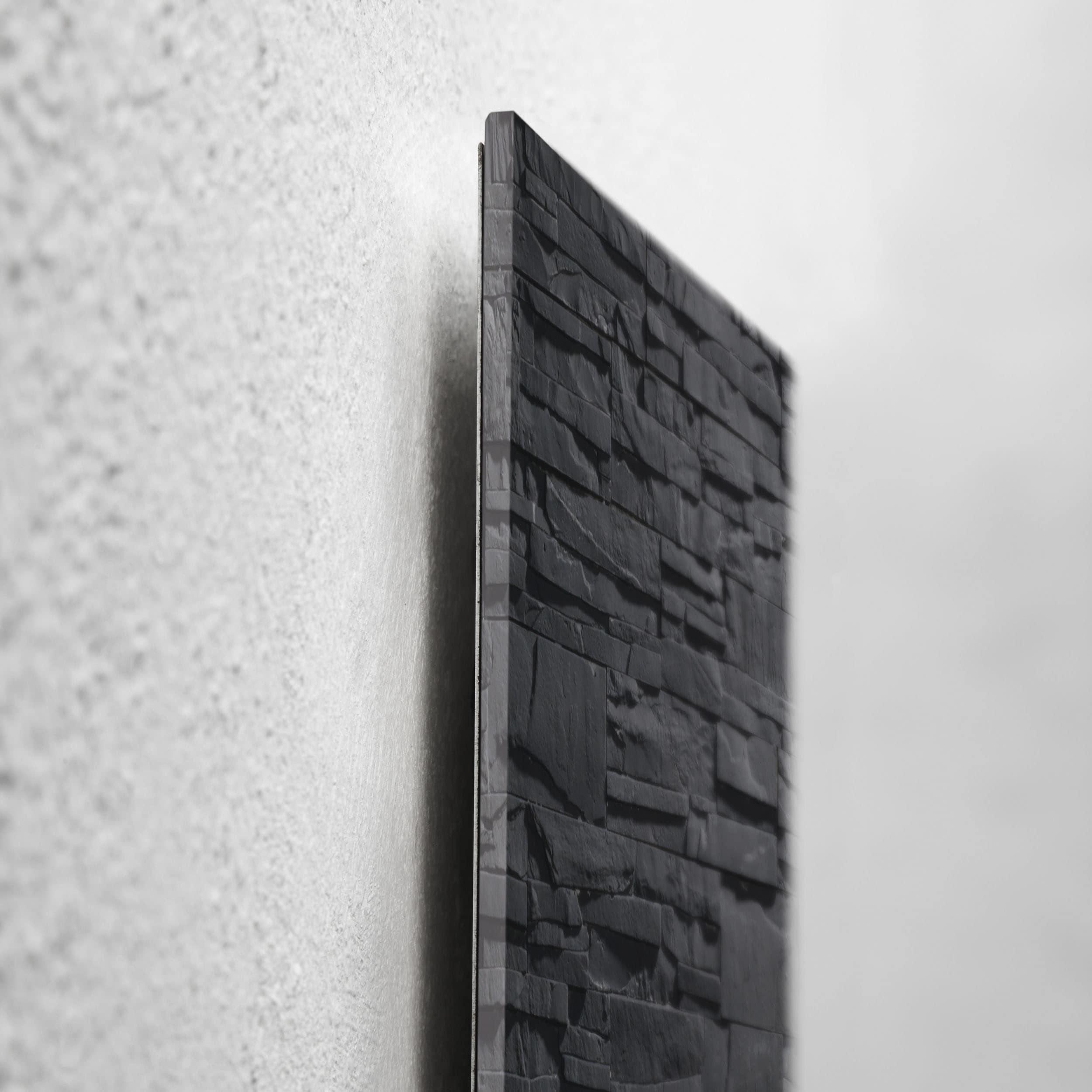 artverum® Glas-Magnetboard Schiefer-Stone
