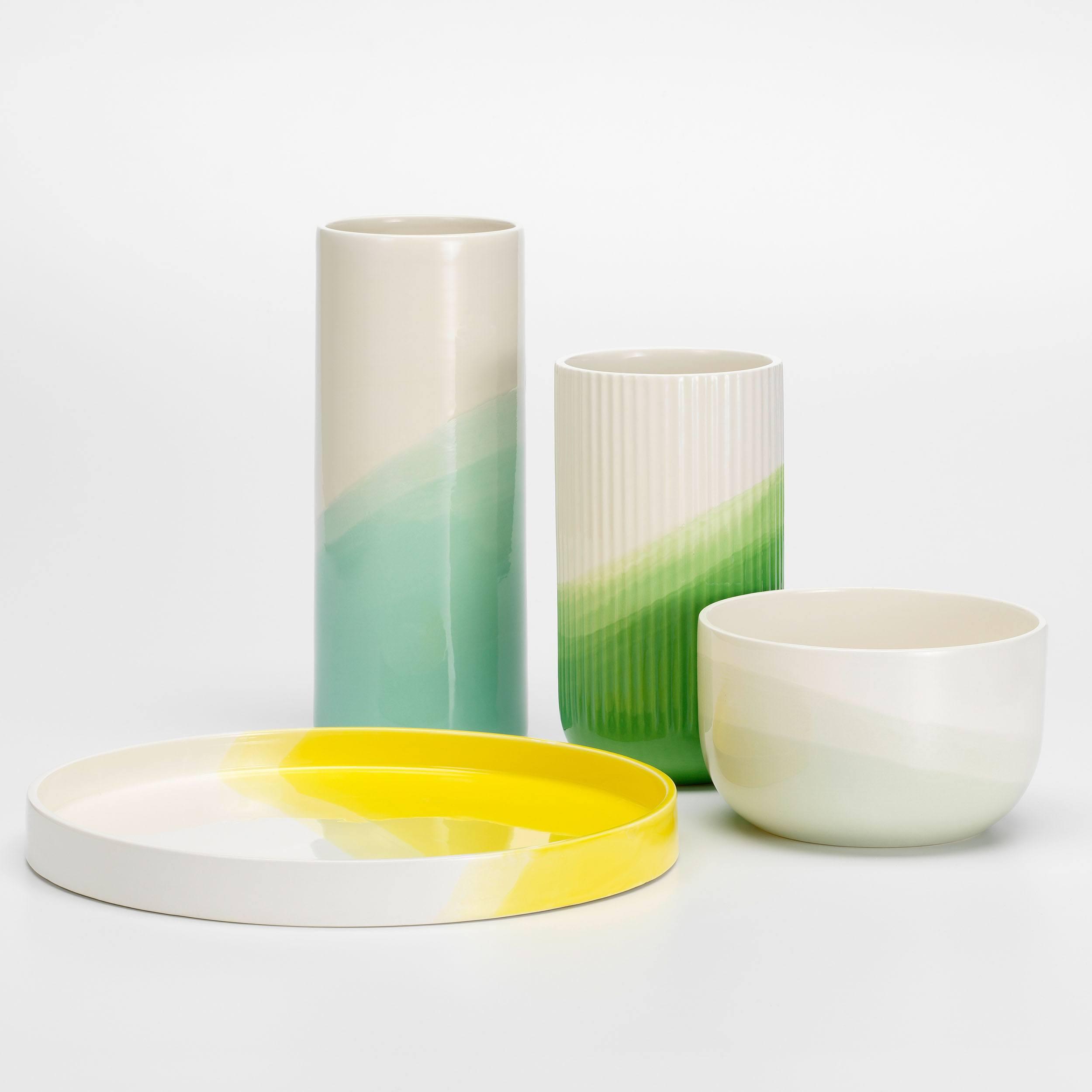 Herringbone Ribbed Vase