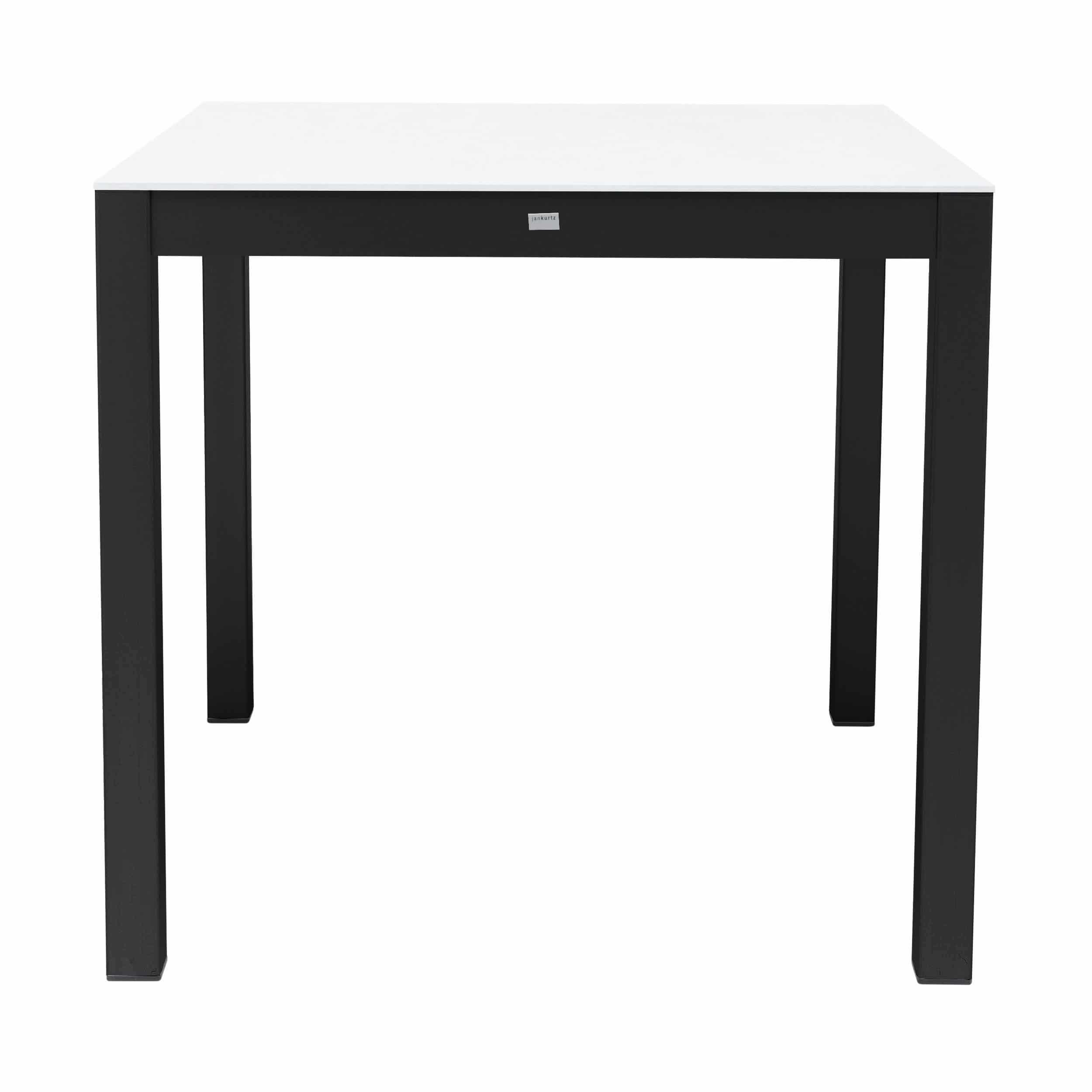 Quadrat HPL Tisch Gestell schwarz