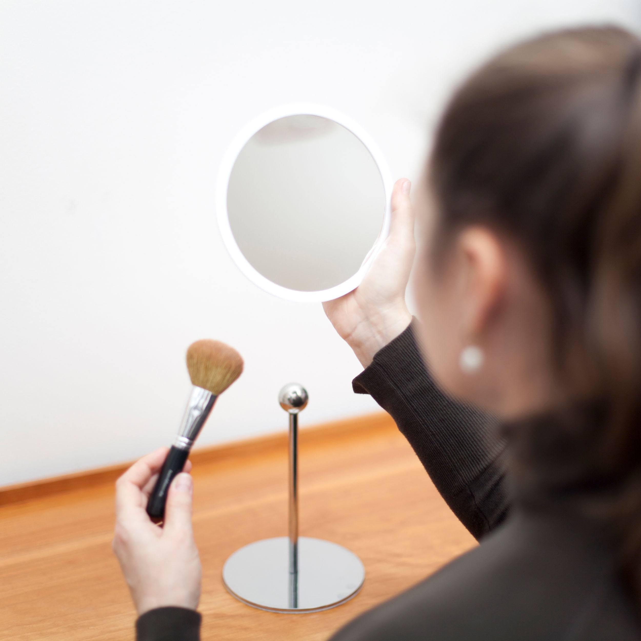 AirMirror Stand-Kosmetikspiegel 5-fach