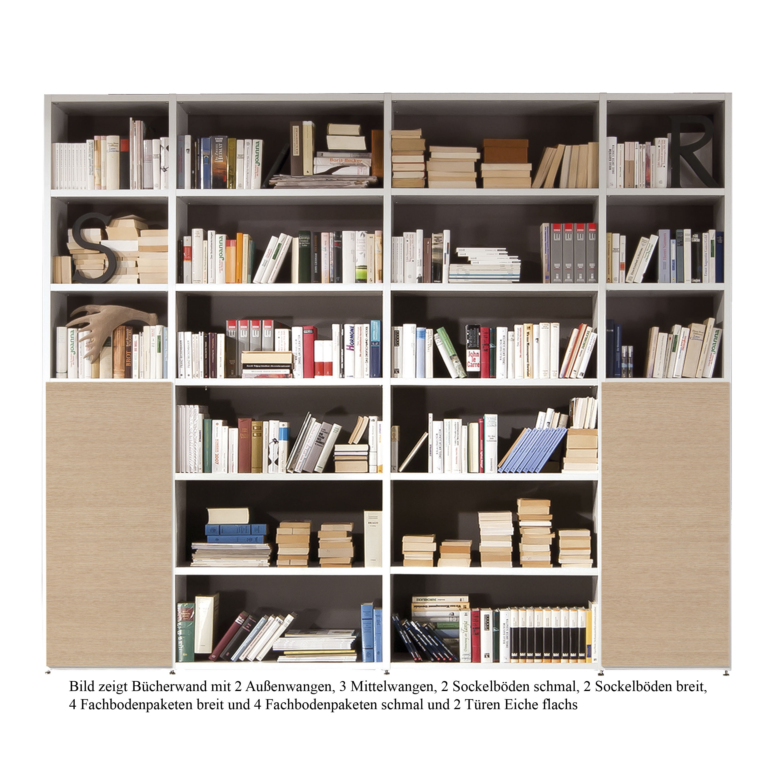 Bücherwand 2.1 Außenwange niedrig rechts