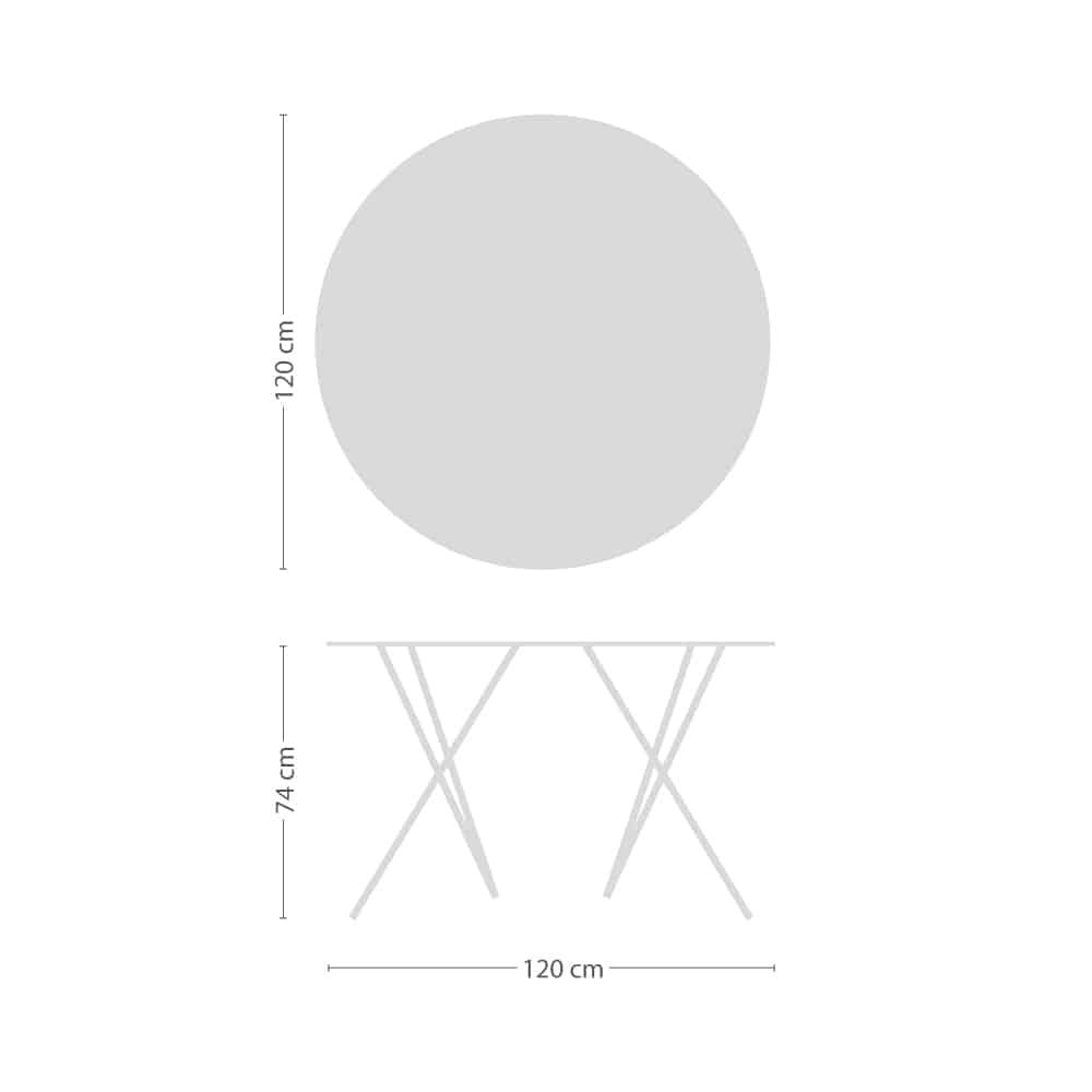 Mika Tischplatte rund