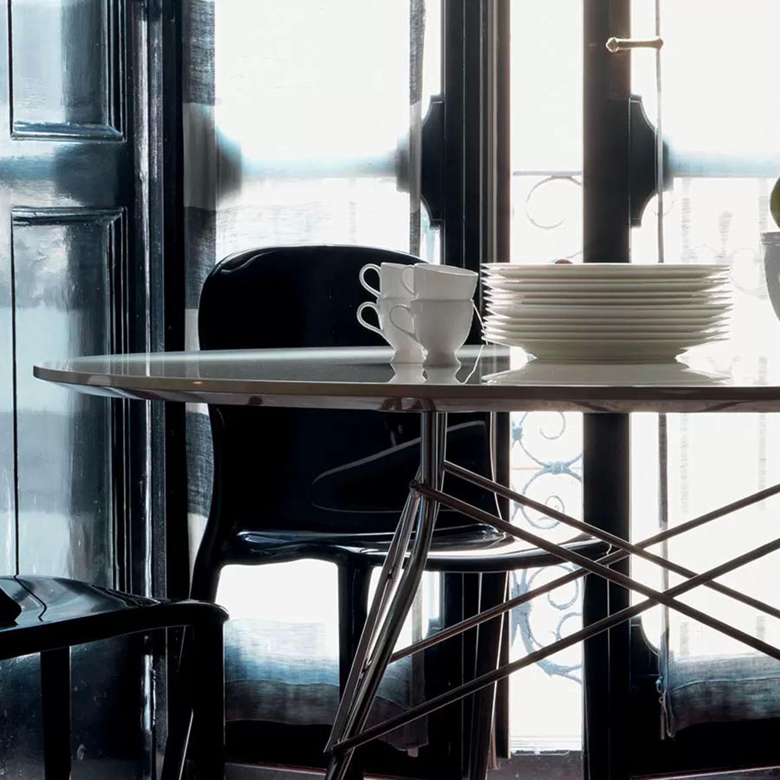 Glossy Tisch oval