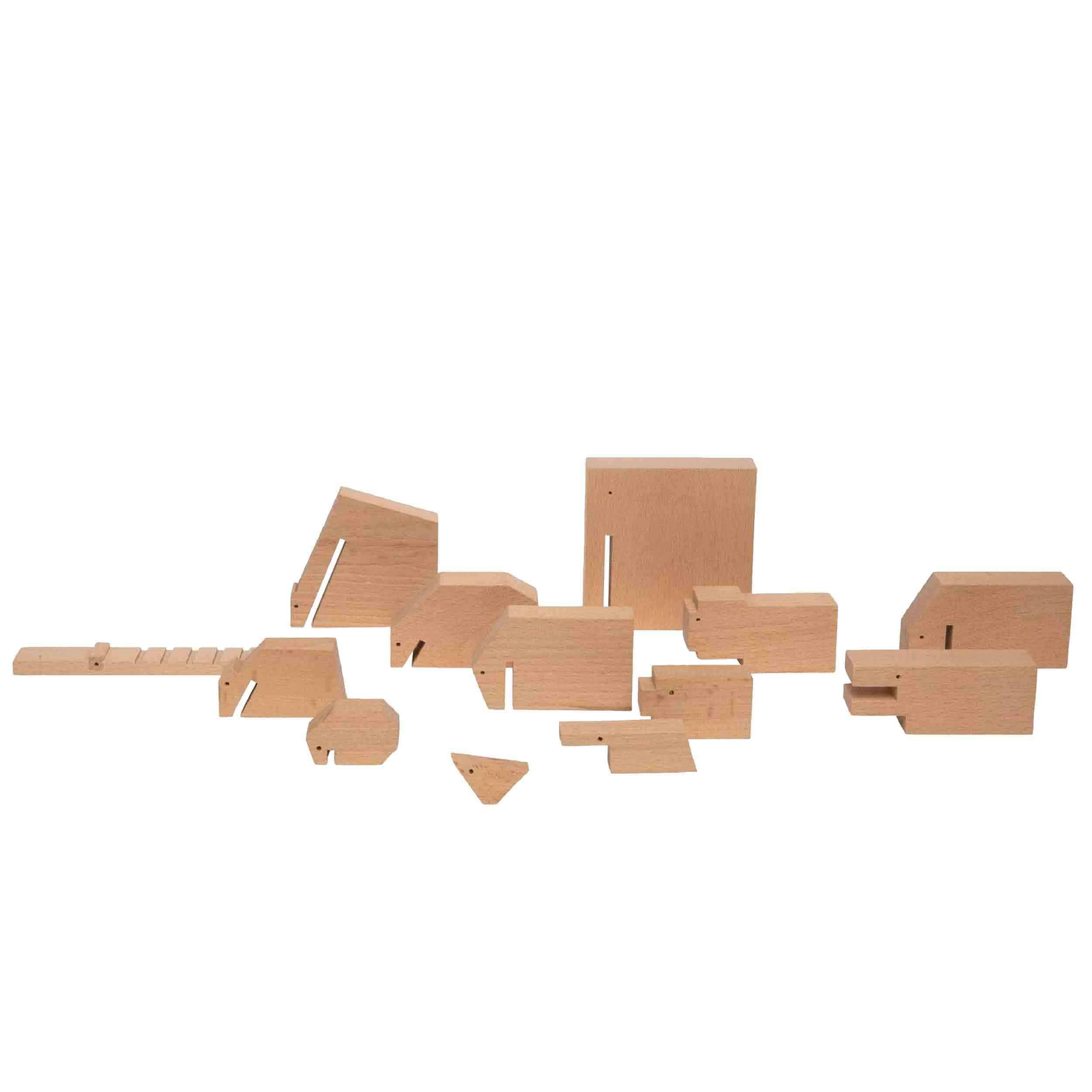 Wooden Animals Collection Figur 13er-Set