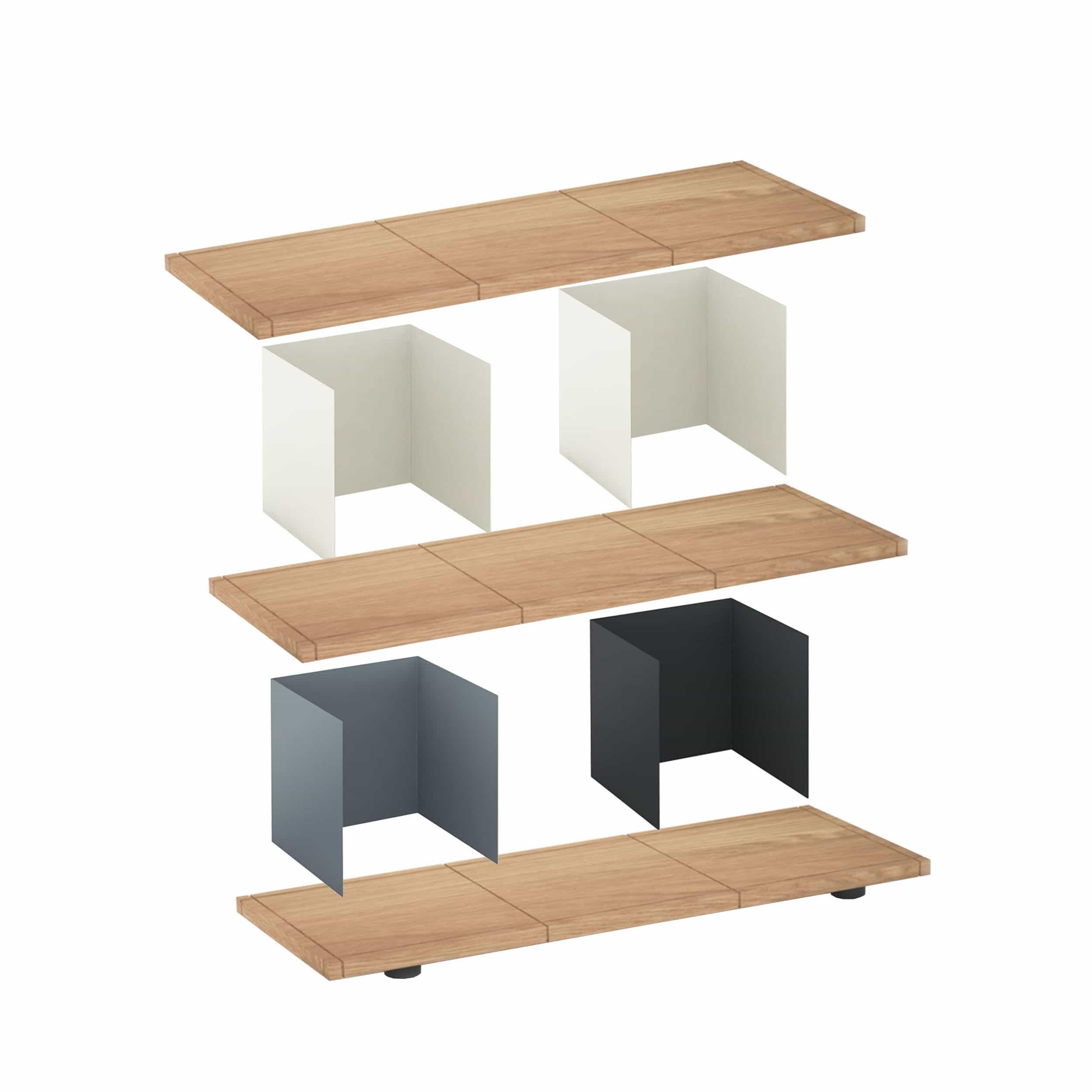Yu Shelf 3 x 2 Regalsystem
