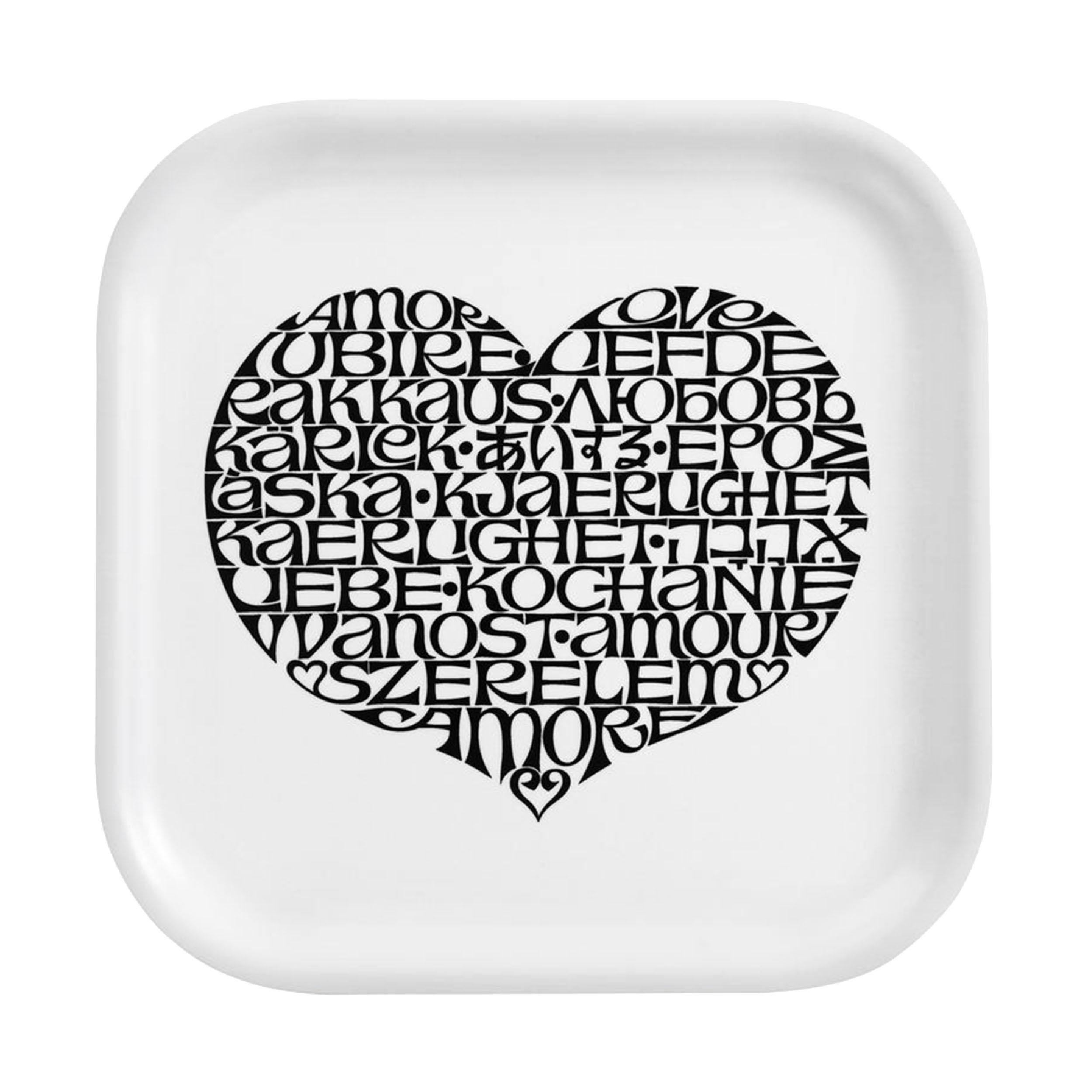 Classic Tray International Love Heart Tablett