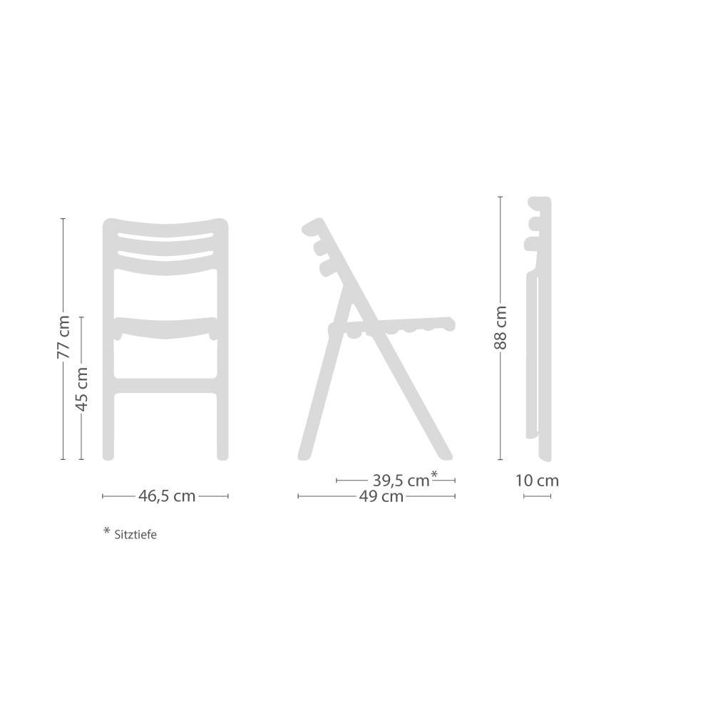 Folding Air-Chair Klappstuhl