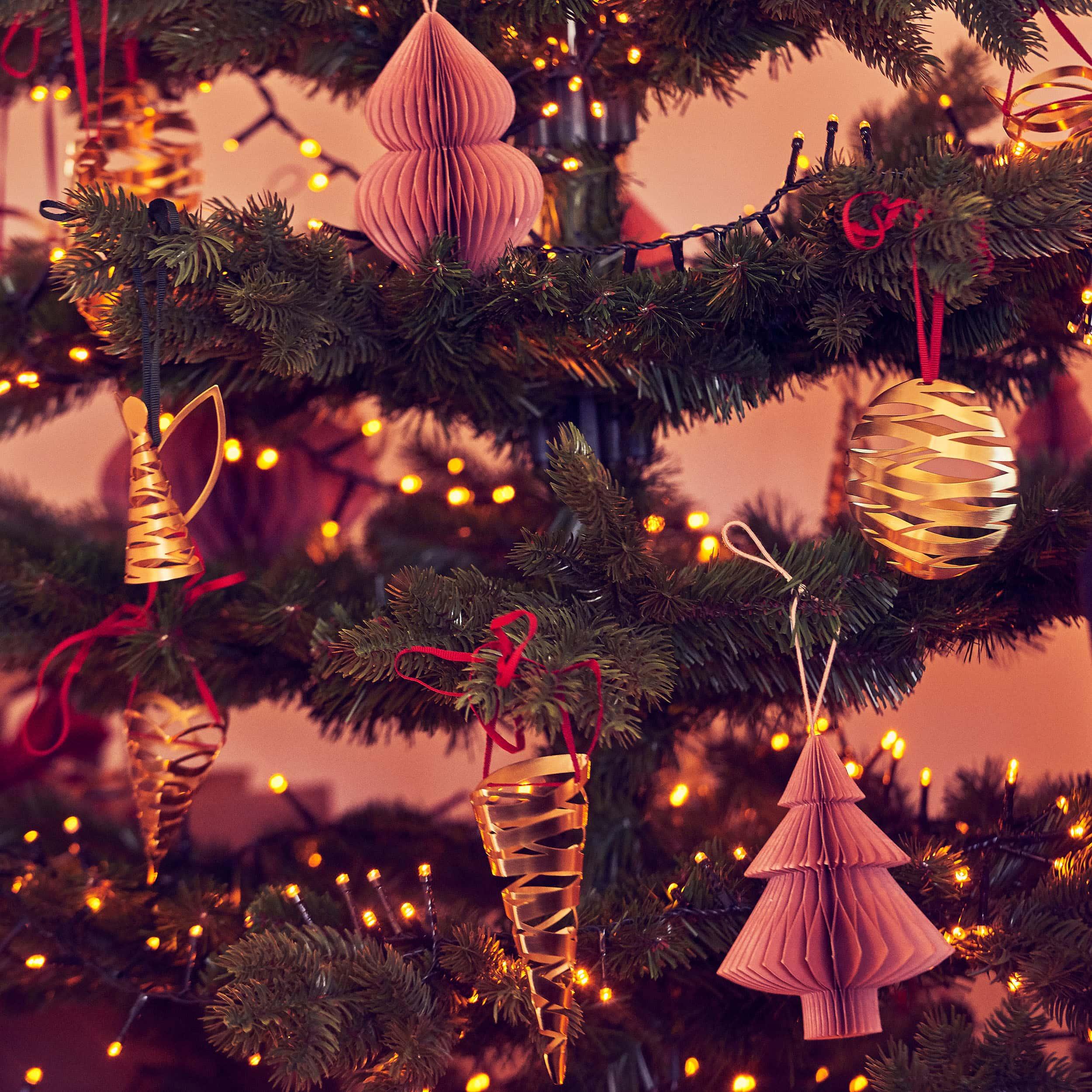 Christmas Paper Weihnachtsschmuck 4er-Set