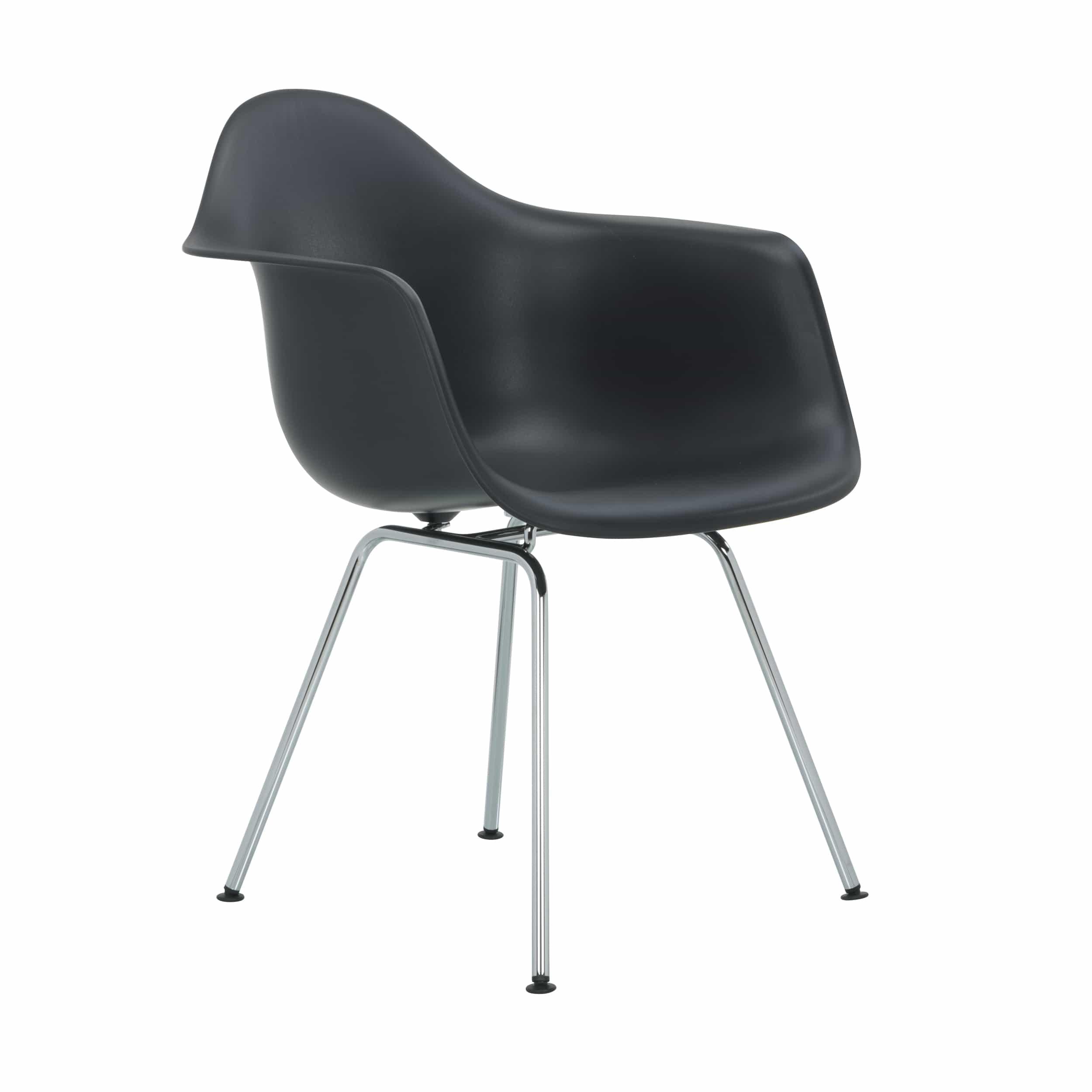 Eames Plastic Armchair Stuhl DAX mit Kunststoffgleitern
