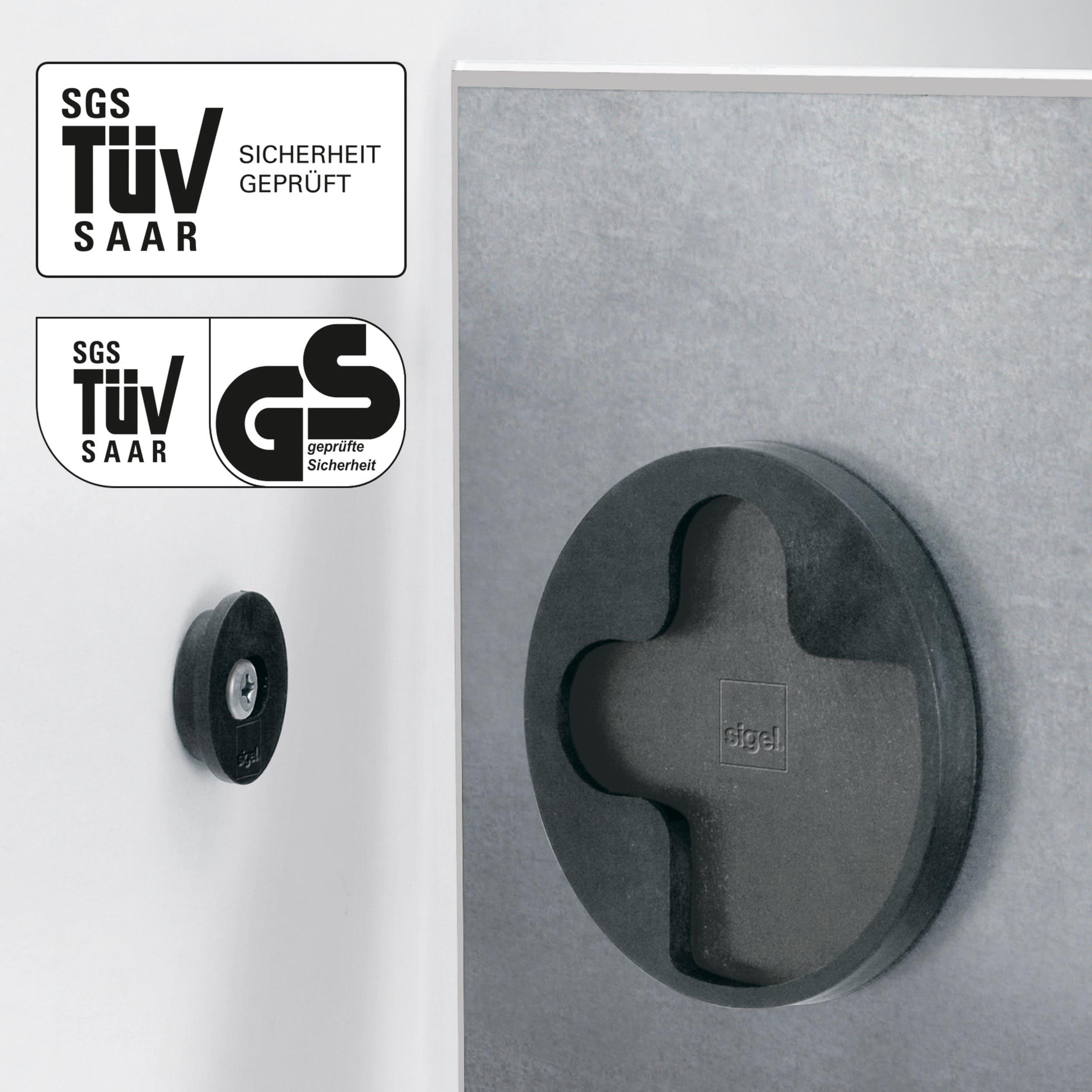 artverum® Glas-Magnetboard Dark Wood