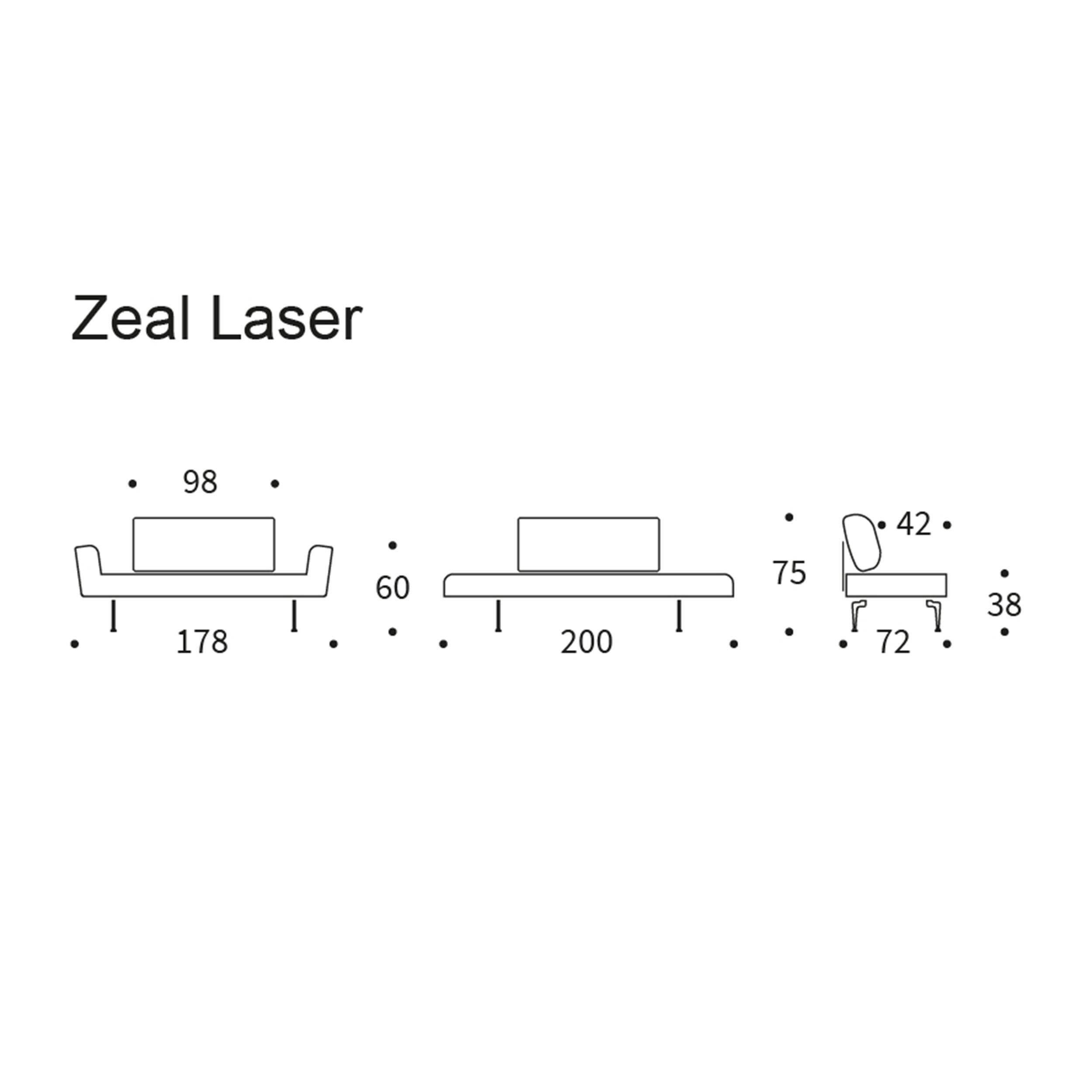 Zeal Sofa mit Laser Fuß
