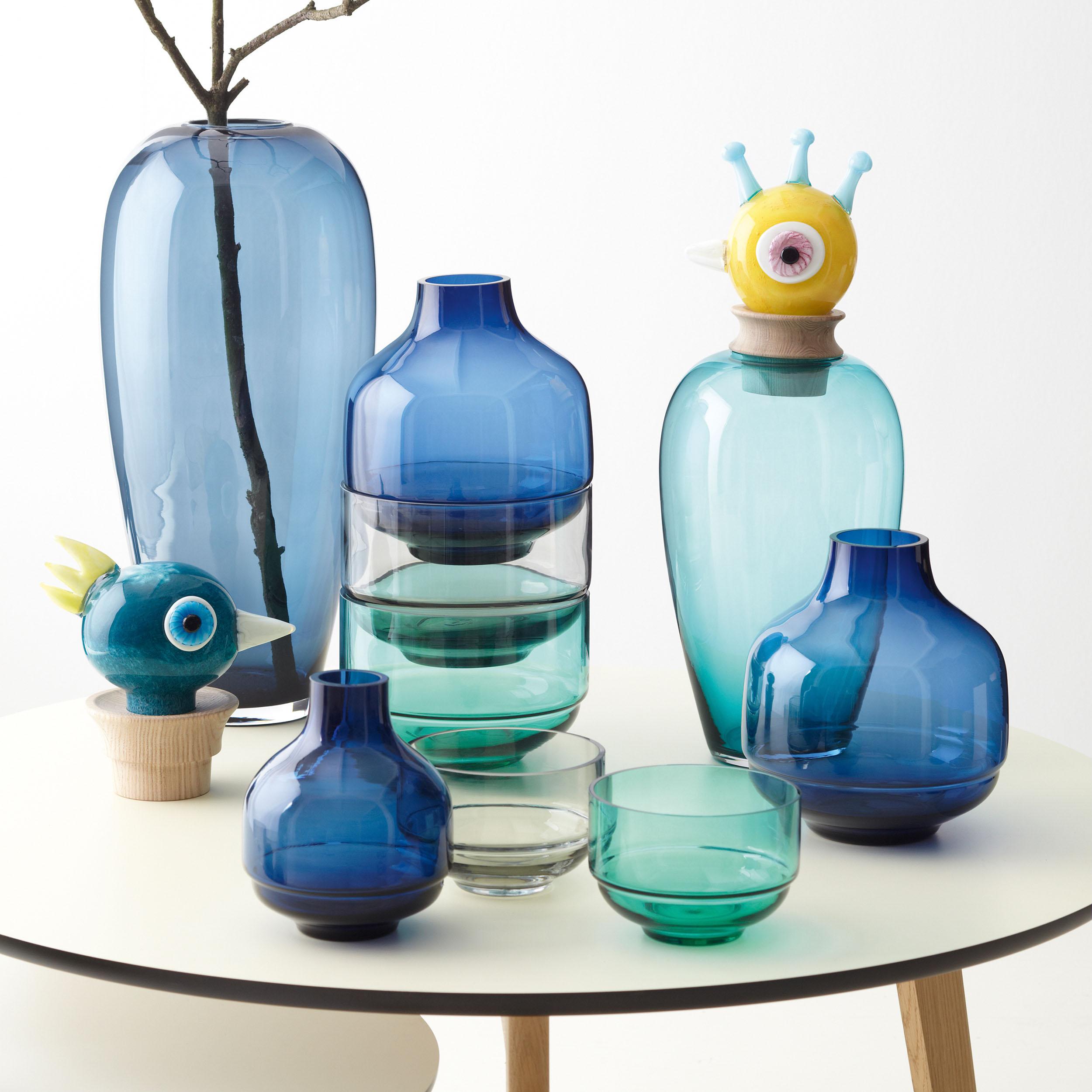 Papageno Vase mit Luigi Kopf