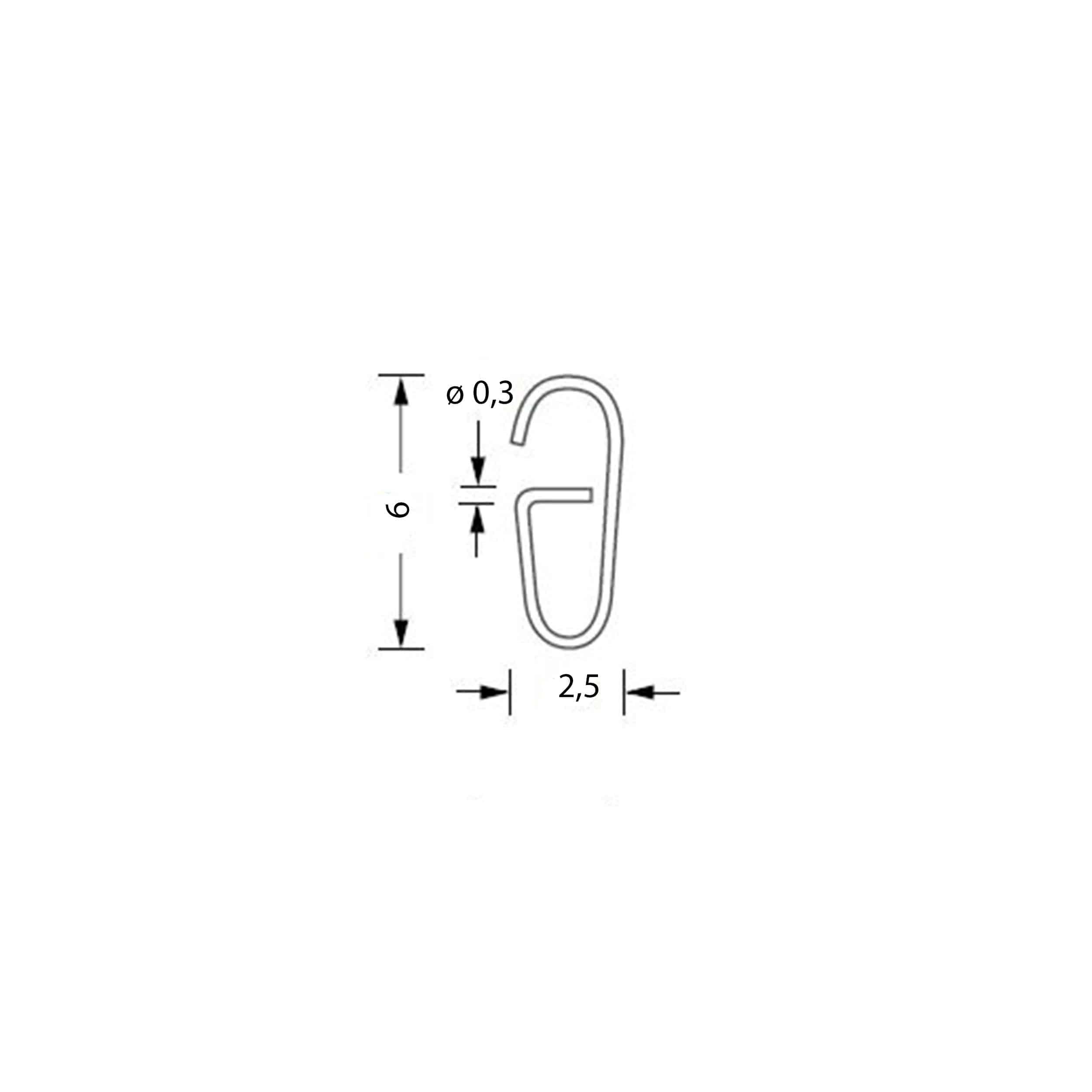 SSA 12 Vorhangringe 5er-Set