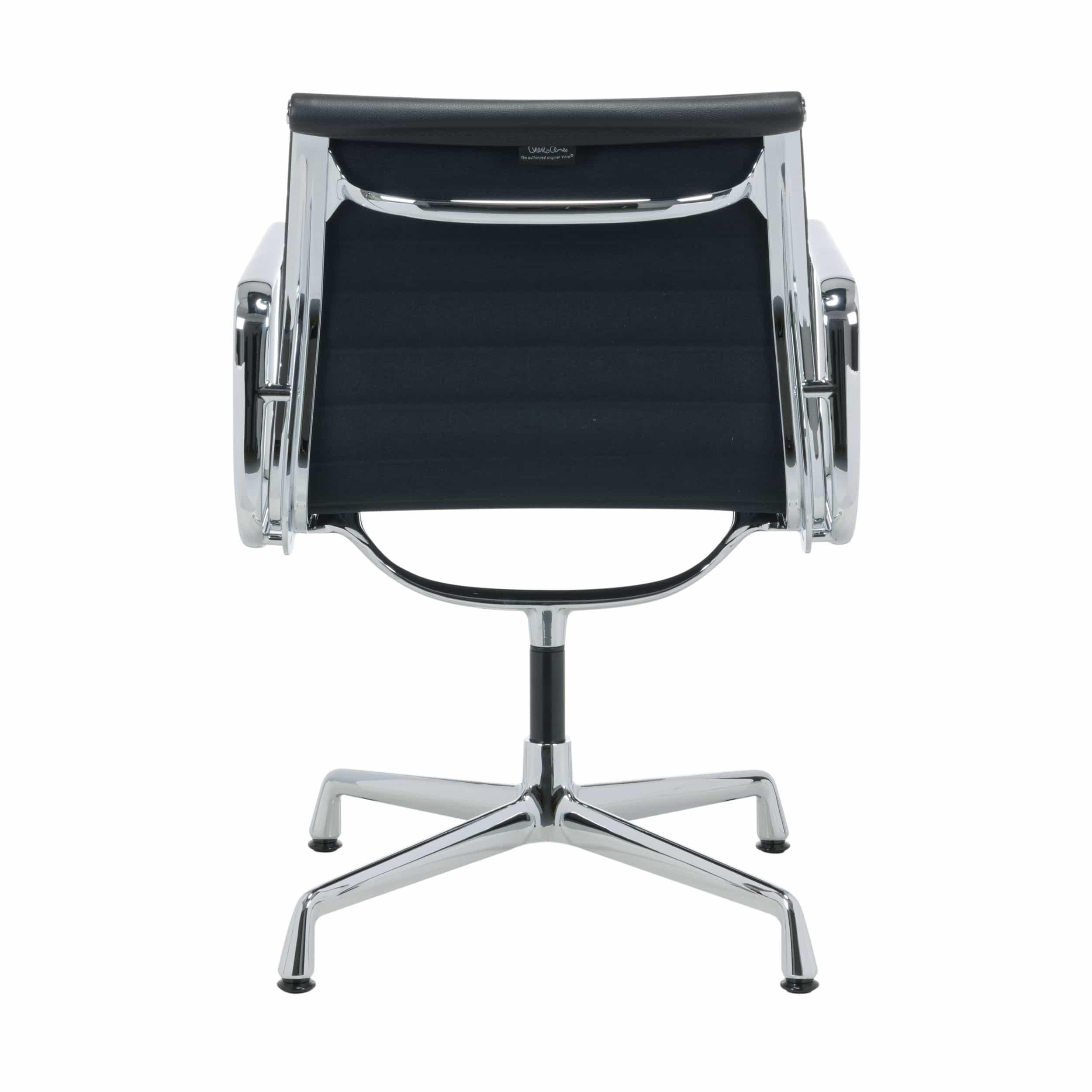Aluminium Group EA 108 Leder Stuhl mit Filzgleitern