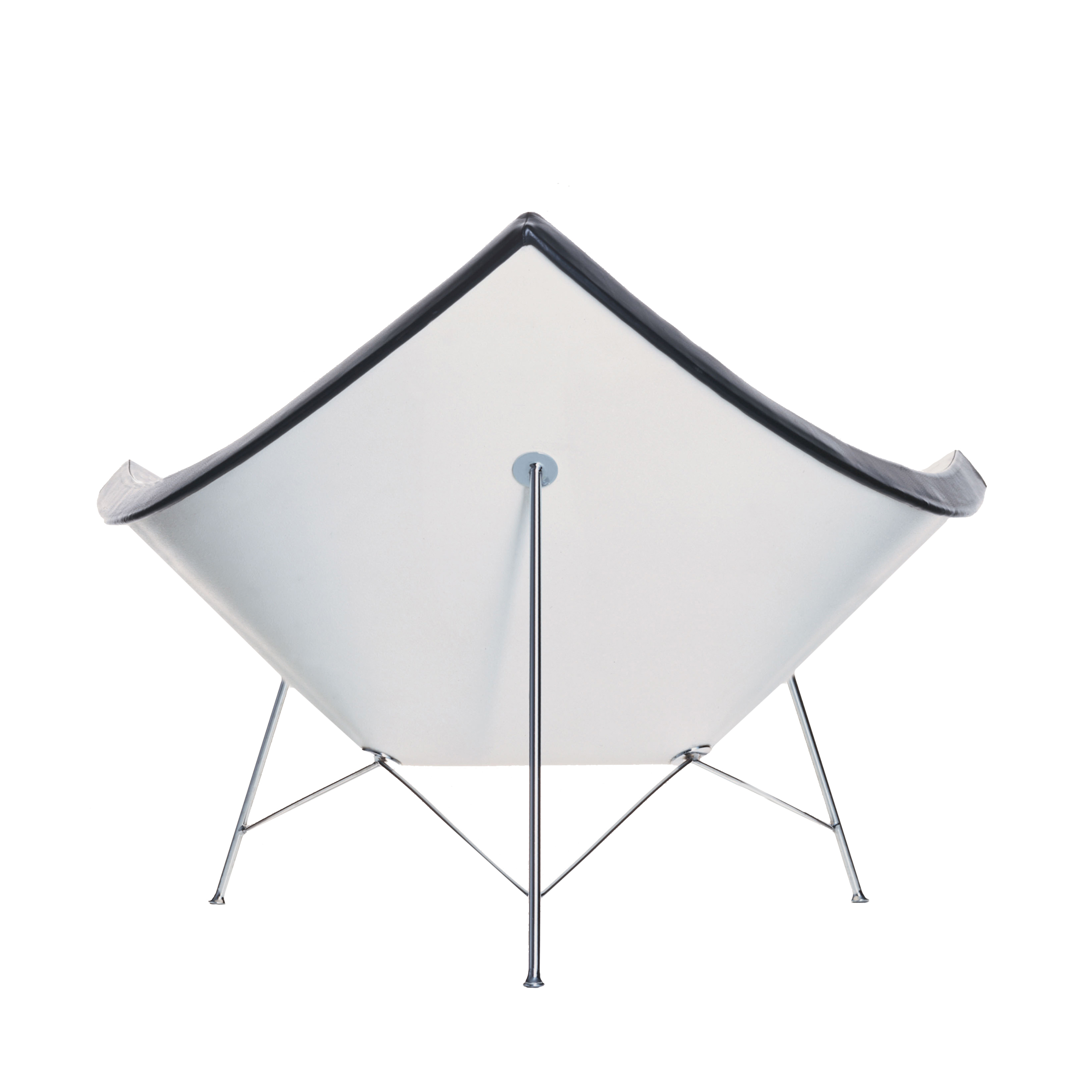Coconut Chair Leder mit Kunststoffgleitern